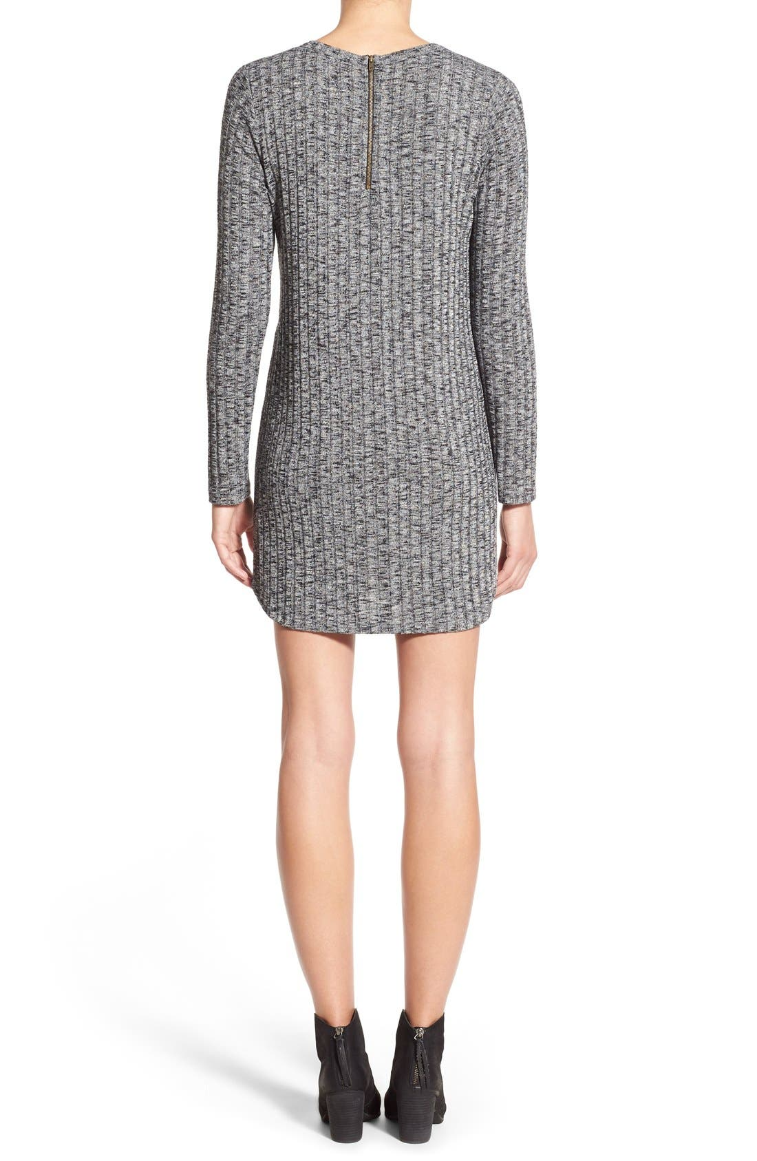 Alternate Image 3  - Everly Ribbed Long Sleeve Sweater Dress