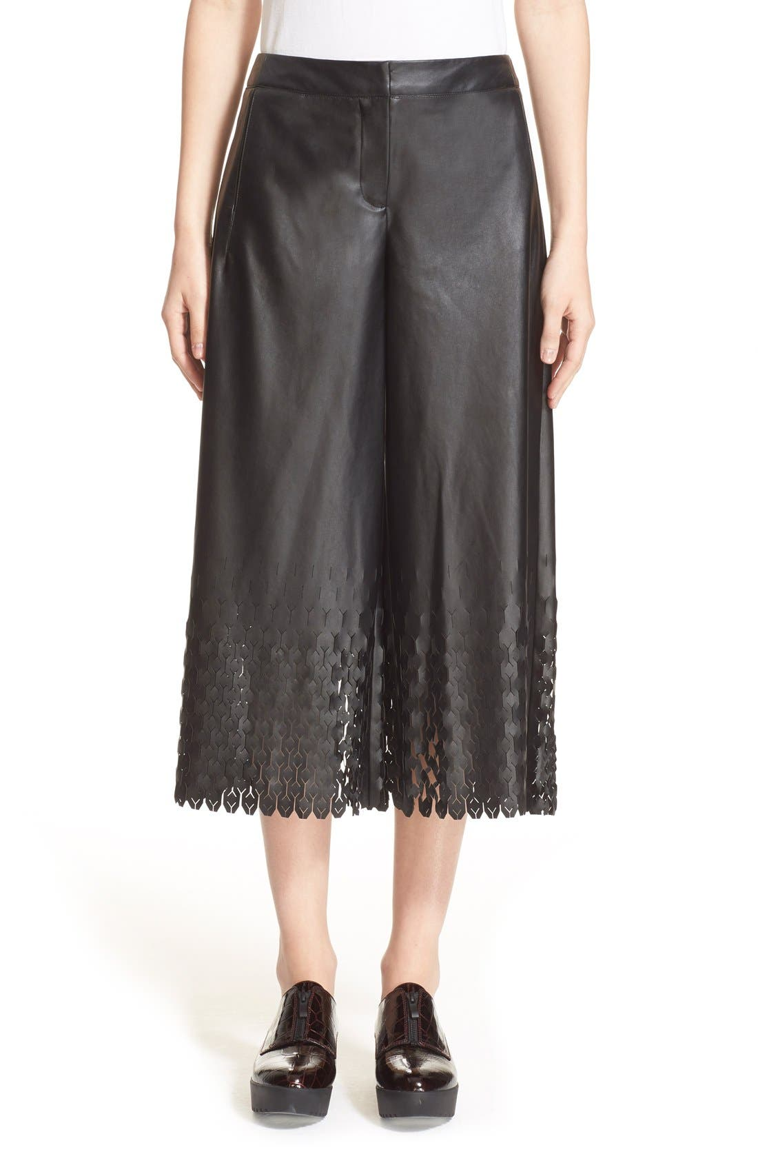 Alternate Image 1 Selected - Opening Ceremony 'Tire Tread' Laser Cut Culottes