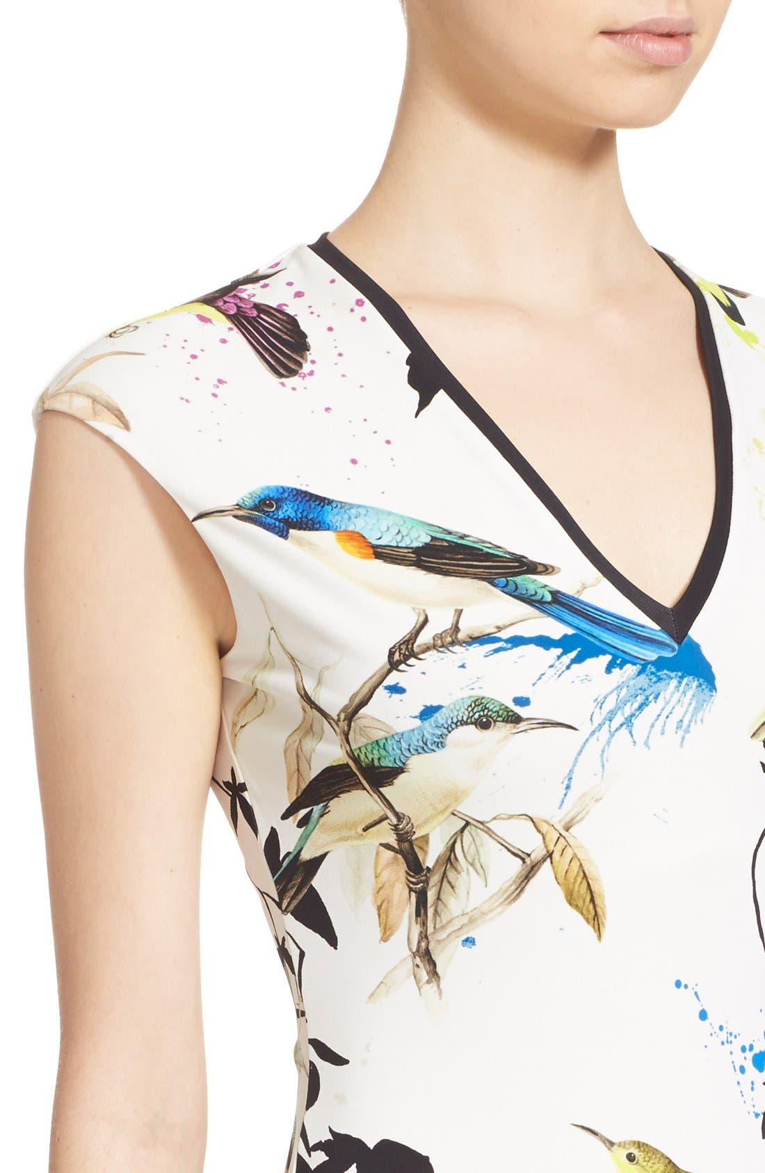 Alternate Image 6  - Roberto Cavalli Bird & Floral Print Jersey Dress