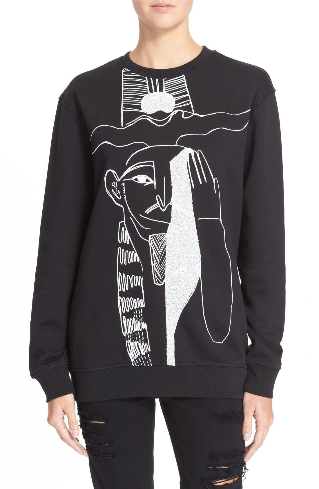 Main Image - McQ by Alexander McQueen Oversized Graphic Sweatshirt