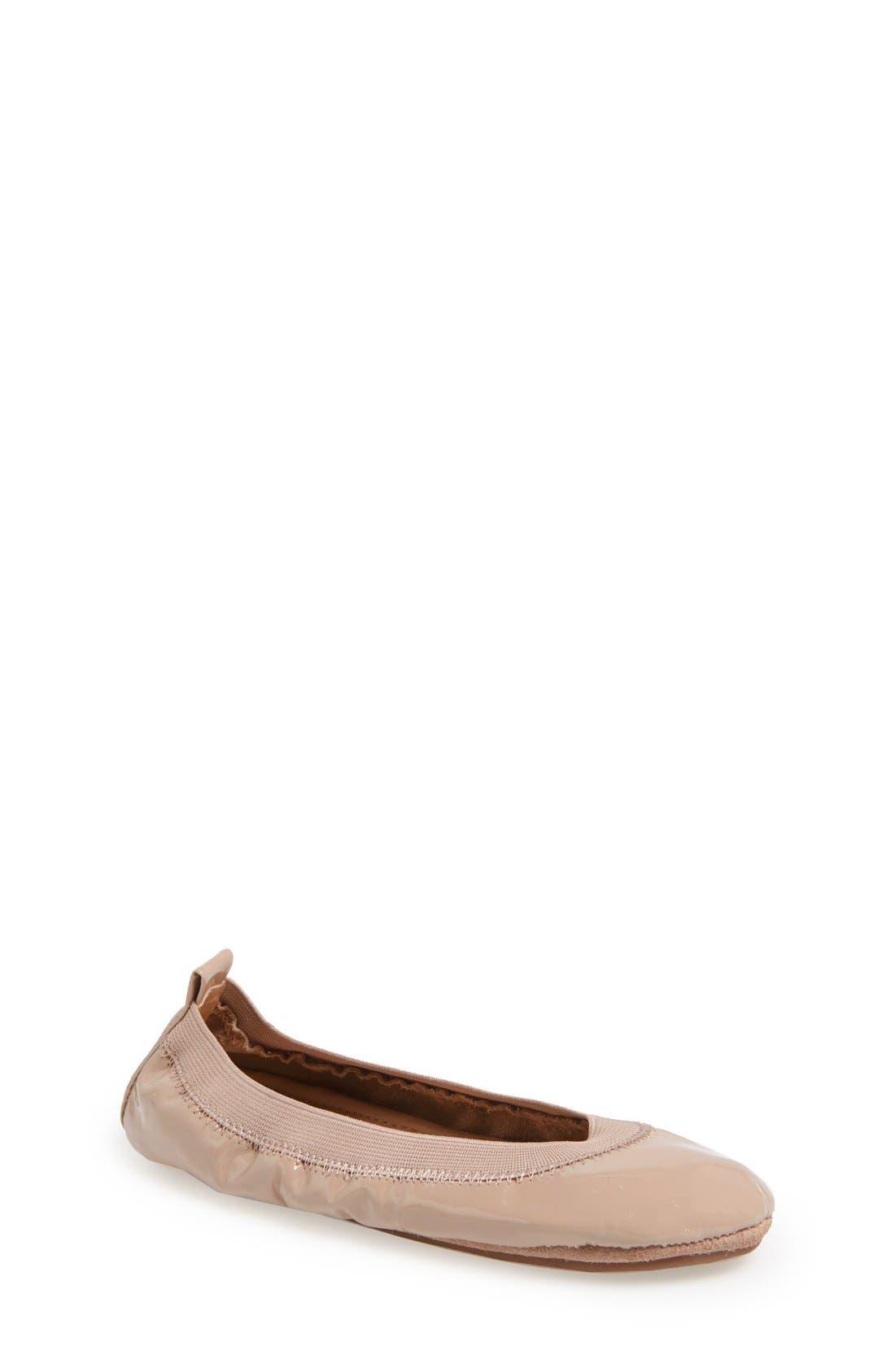 YOSI SAMRA Patent Foldable Ballet Flat