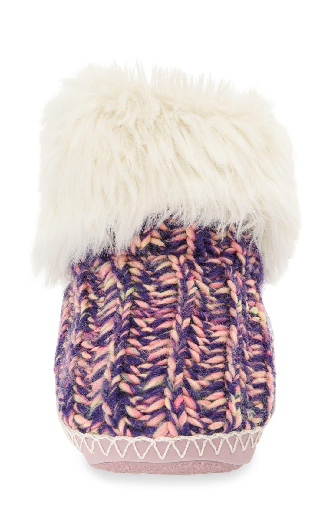 Alternate Image 3  - Bedroom Athletics 'Toni' Faux Fur Knit Slipper Bootie (Women)