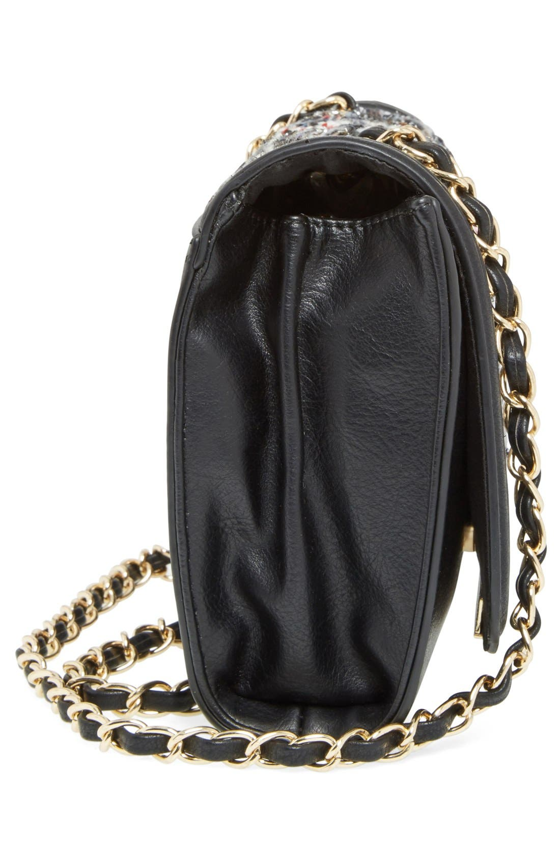 Alternate Image 4  - Sole Society 'Celeste' Quilted Sequin Crossbody Bag