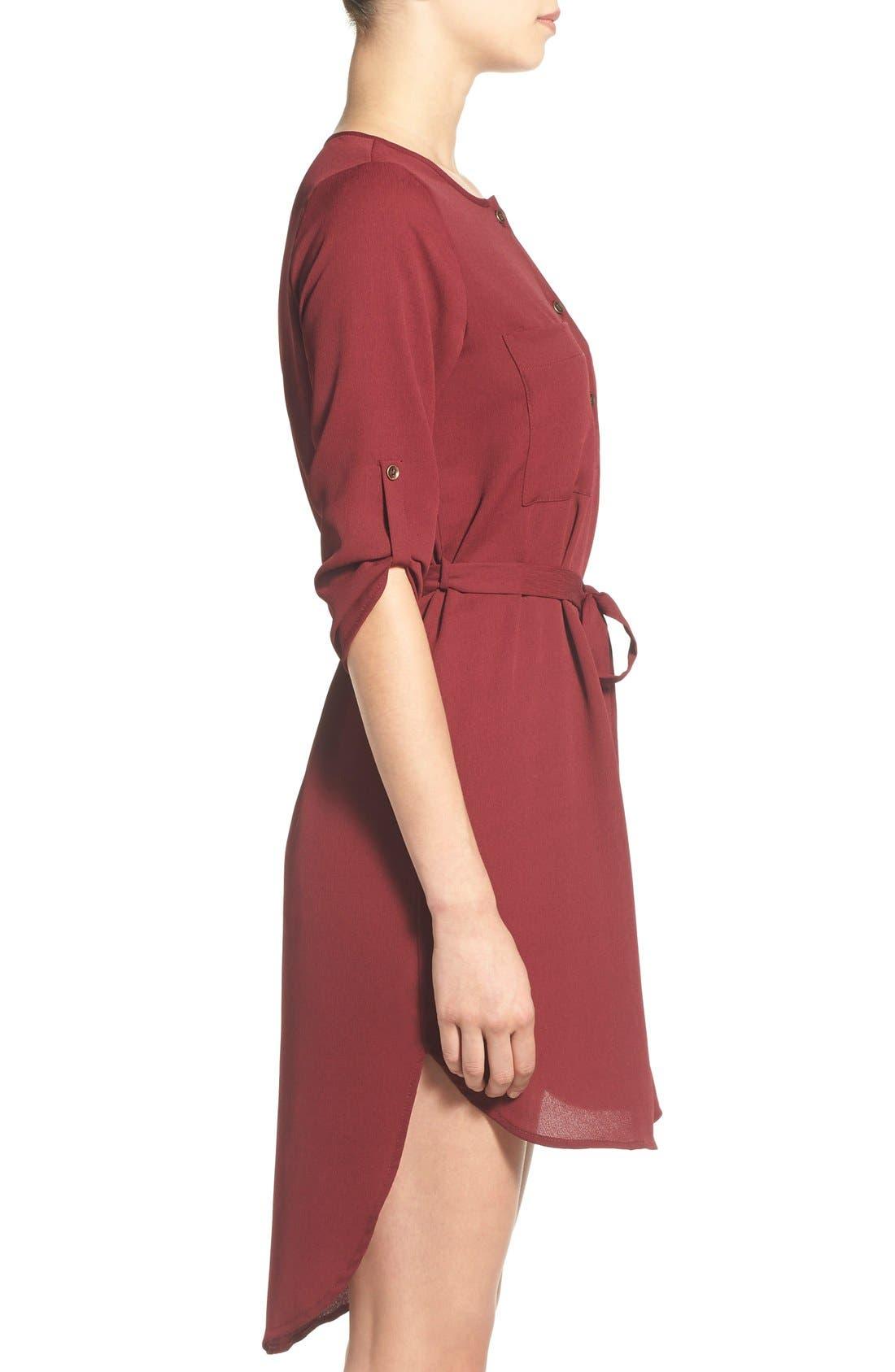 Alternate Image 3  - jella c. Henley Shirt Dress