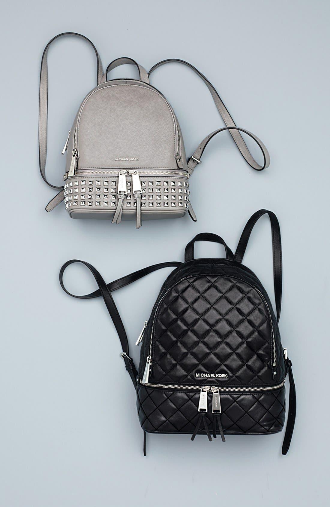 Alternate Image 8  - MICHAEL Michael Kors 'Small Rhea Zip' Studded Backpack
