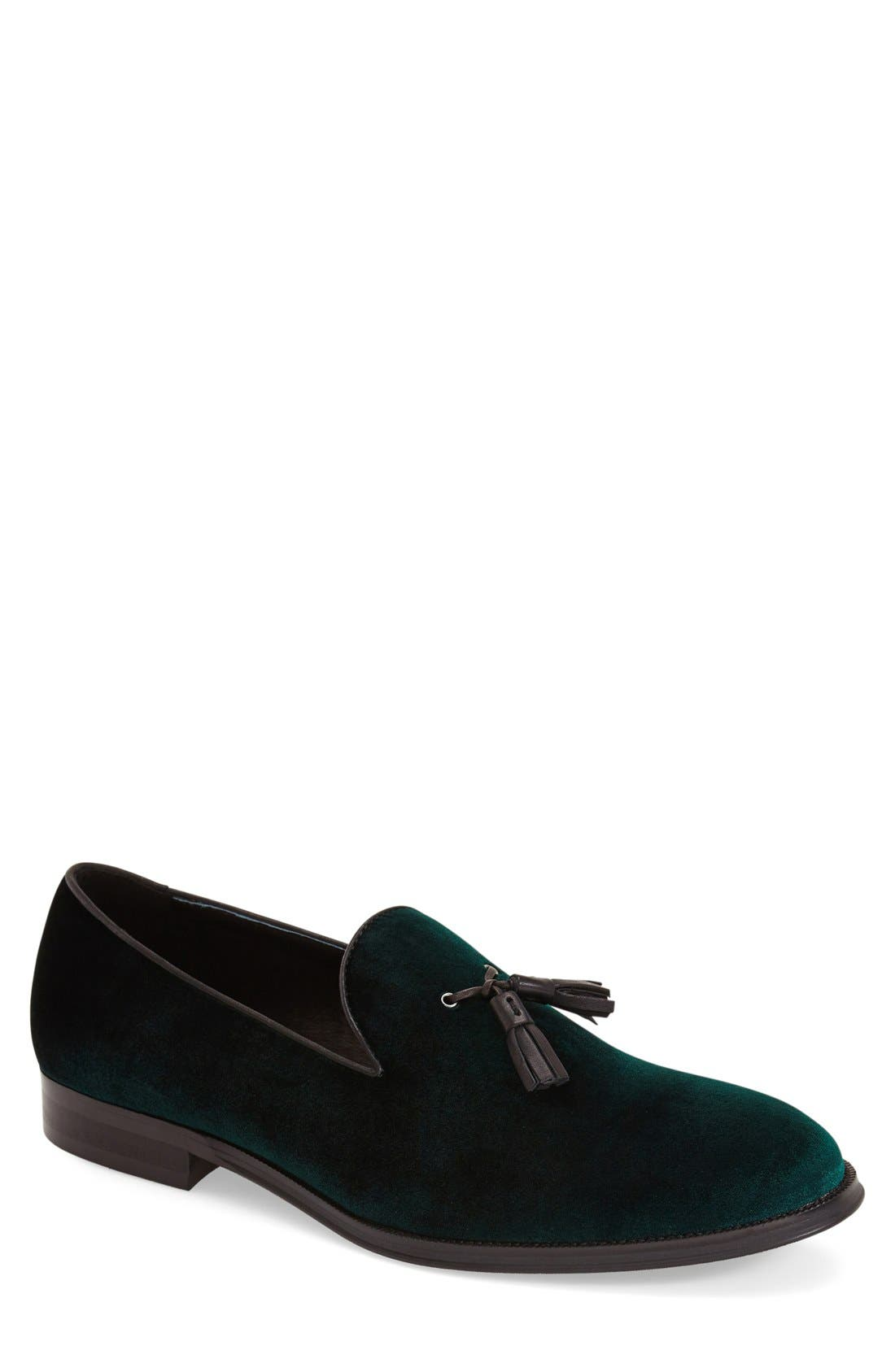 Steve Madden Velour Tassel Loafer (Men)