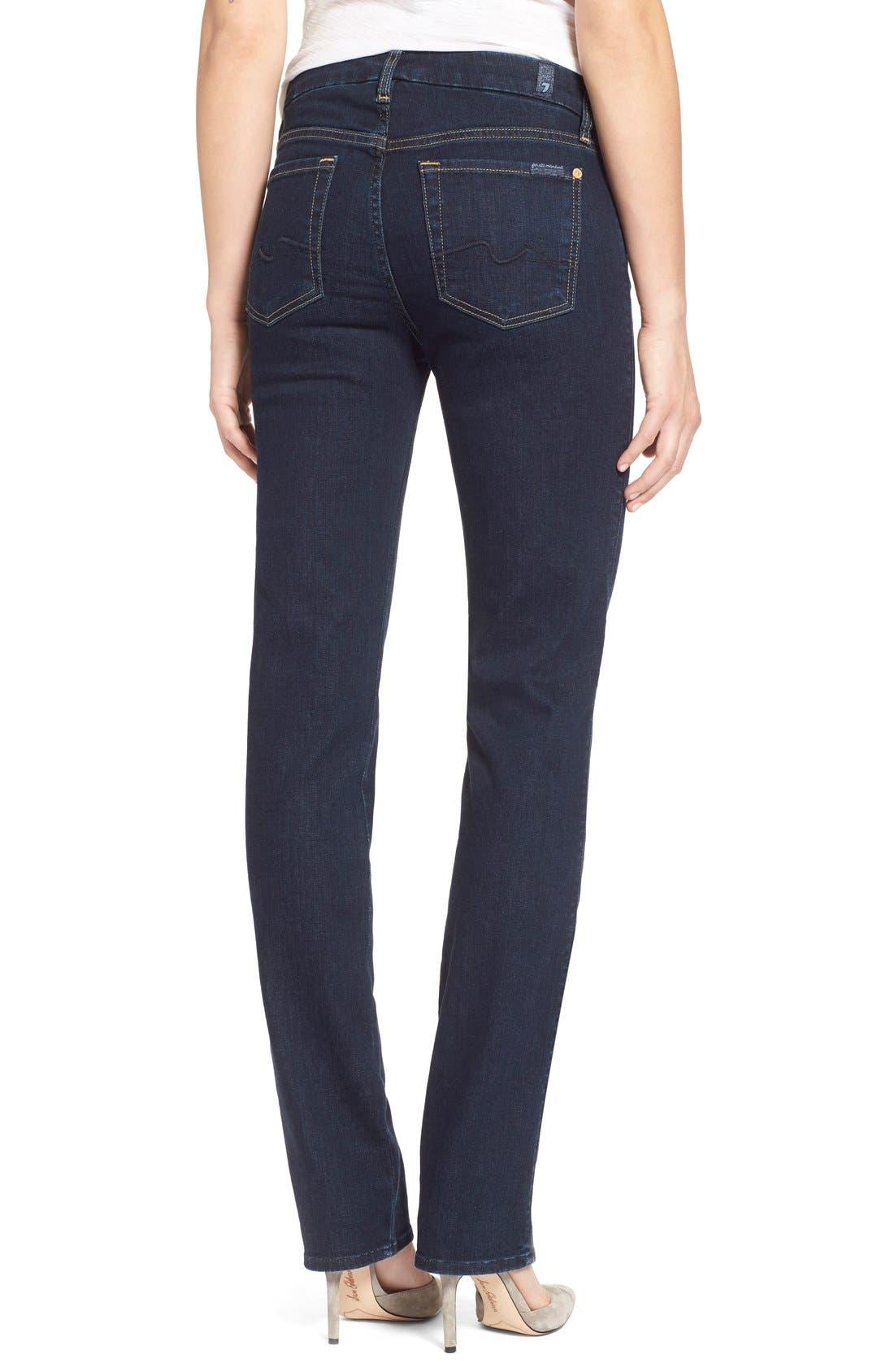 Alternate Image 2  - 7 For All Mankind® 'Kimmie' Straight Leg Jeans (Dark Dusk Indigo)