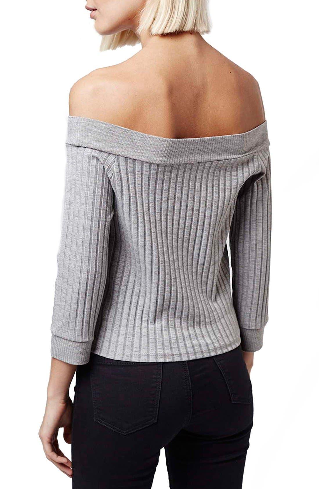 Alternate Image 3  - Topshop 'Bardot' Off the Shoulder Top