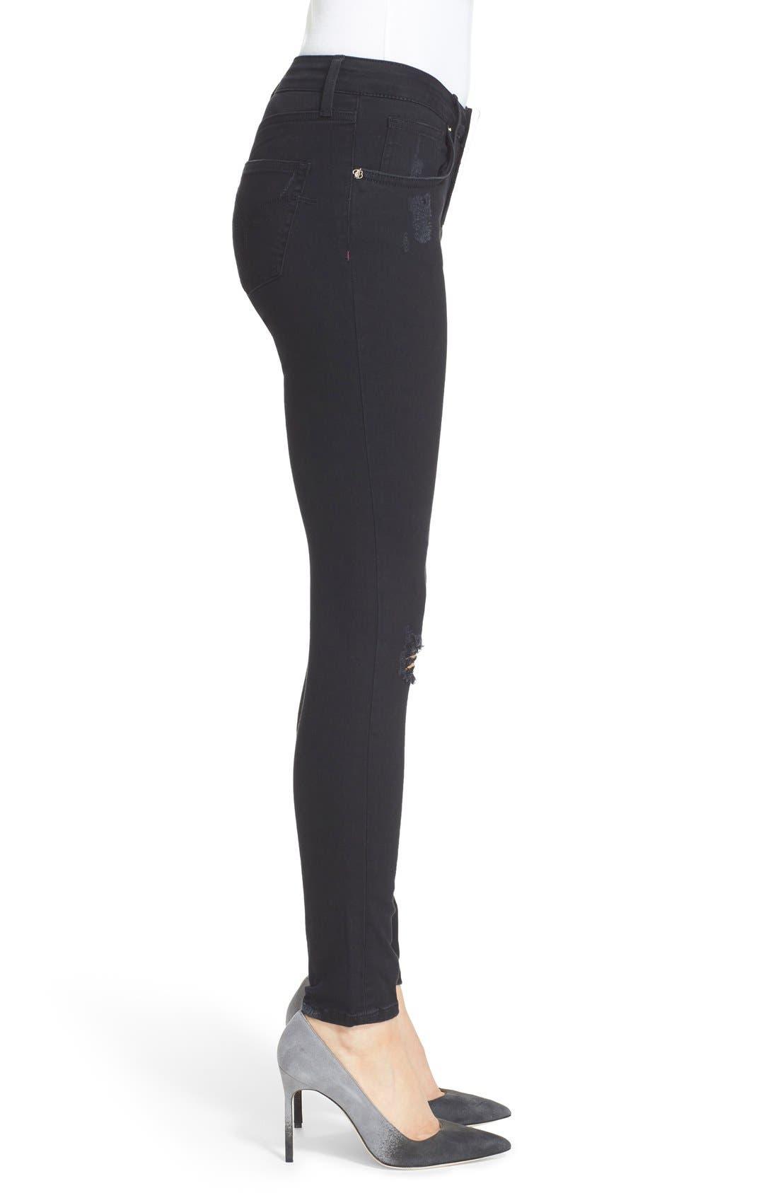 Alternate Image 3  - Ted Baker London 'Platt' Abrasion Skinny Jeans (Black)