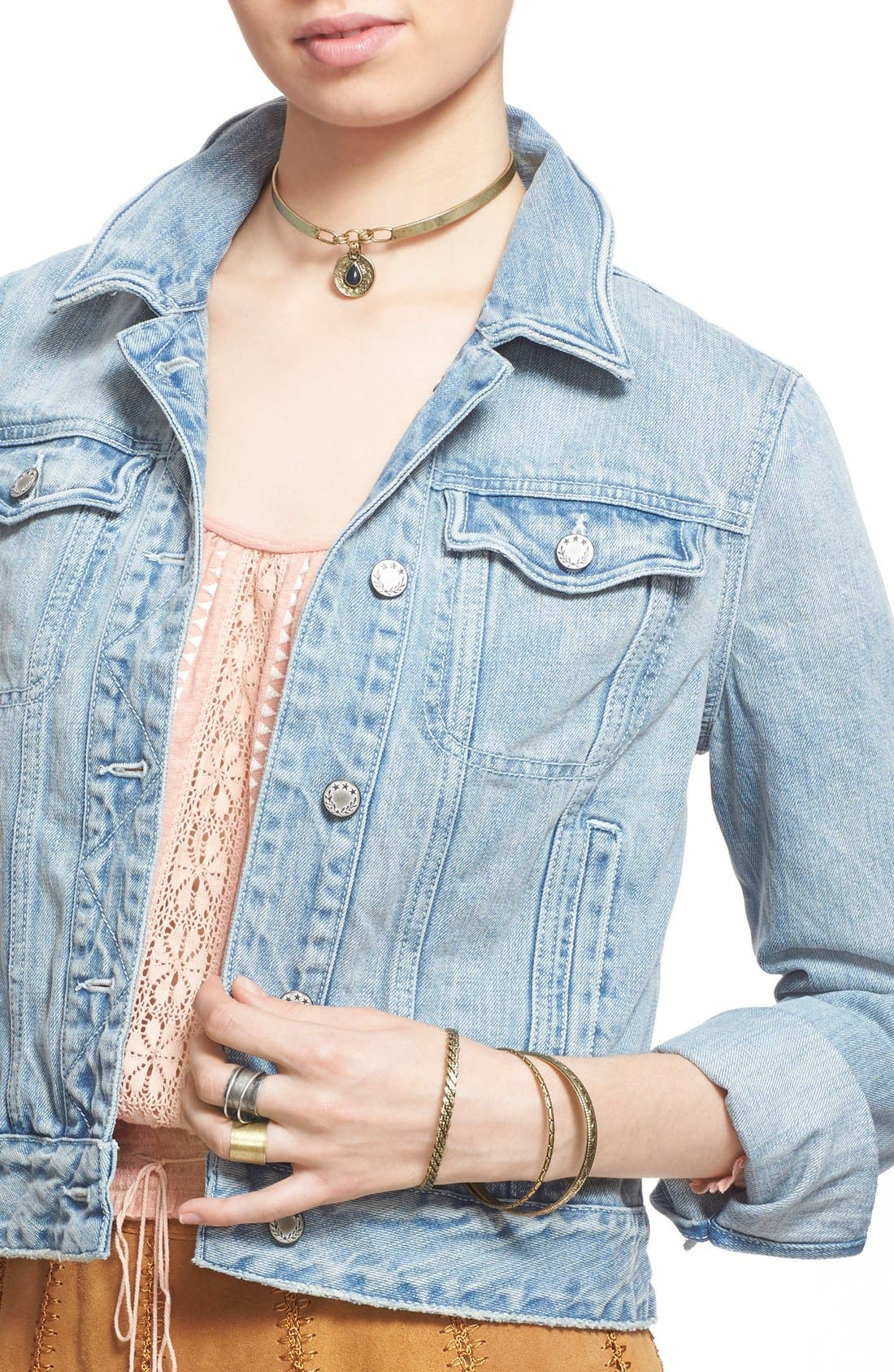 Alternate Image 1 Selected - Free People Denim Jacket
