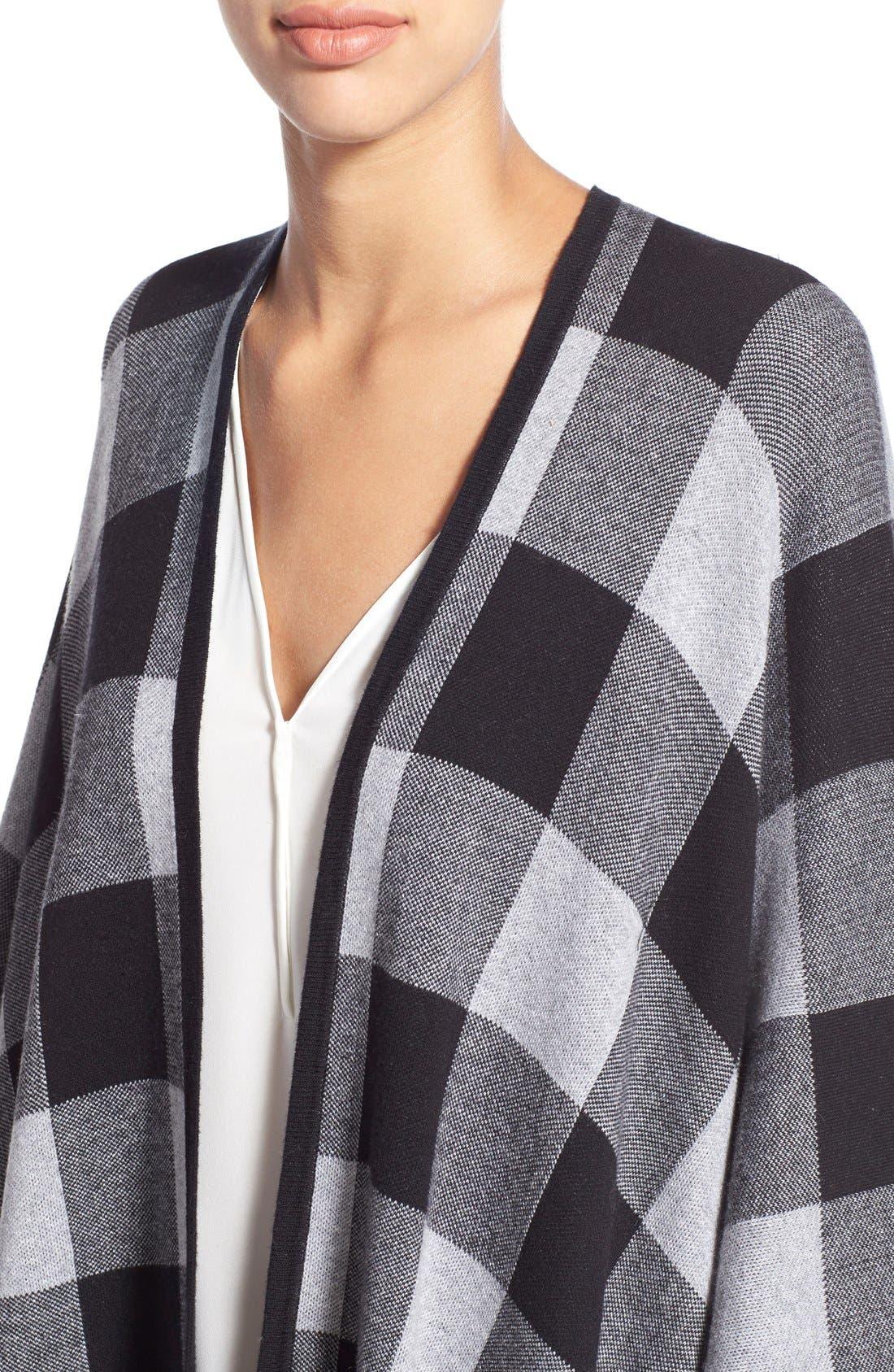 Alternate Image 4  - kensie Check Plaid Blanket Cardigan