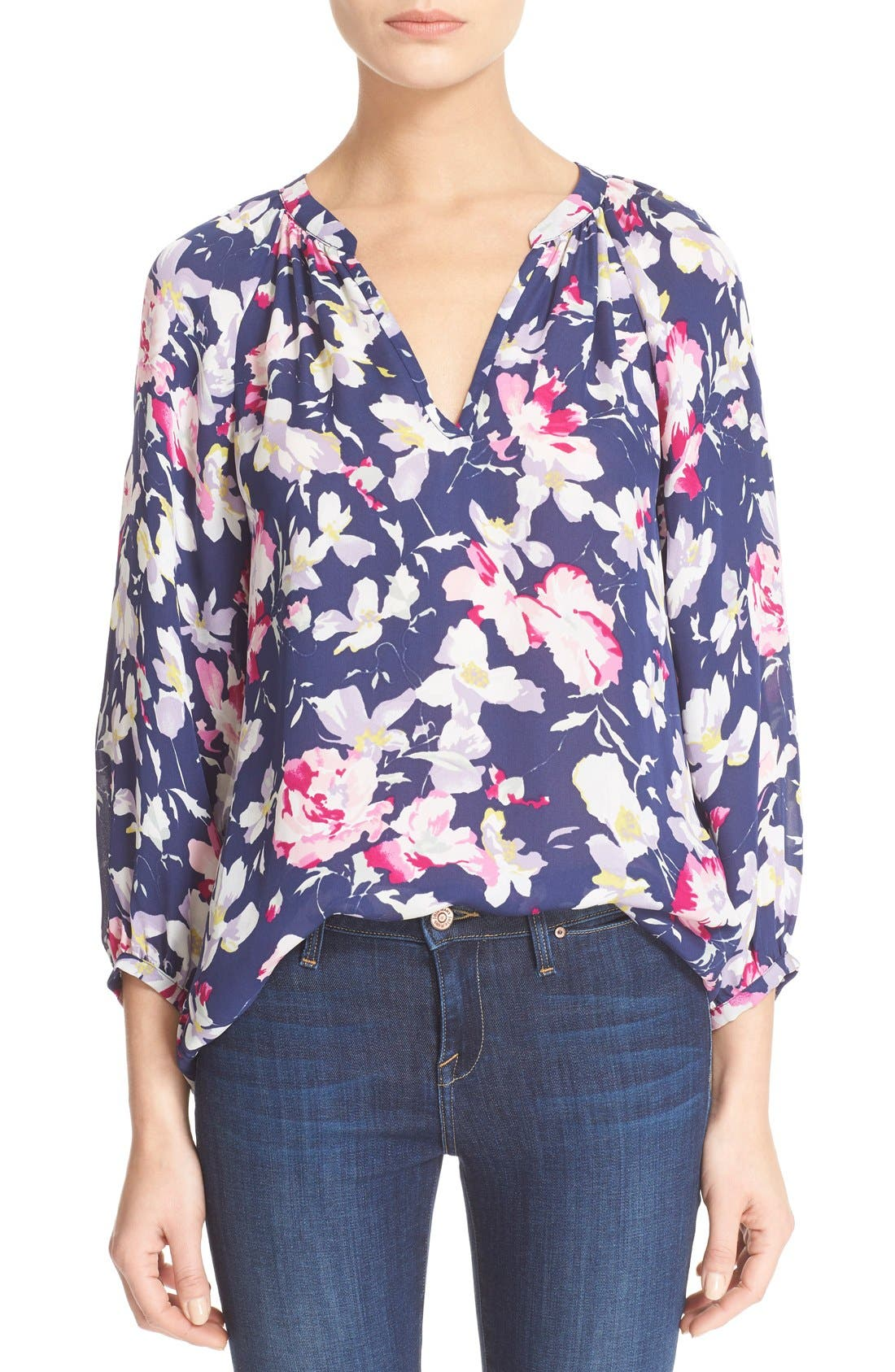 Main Image - Joie 'McKenna' Floral Print Silk Blouse