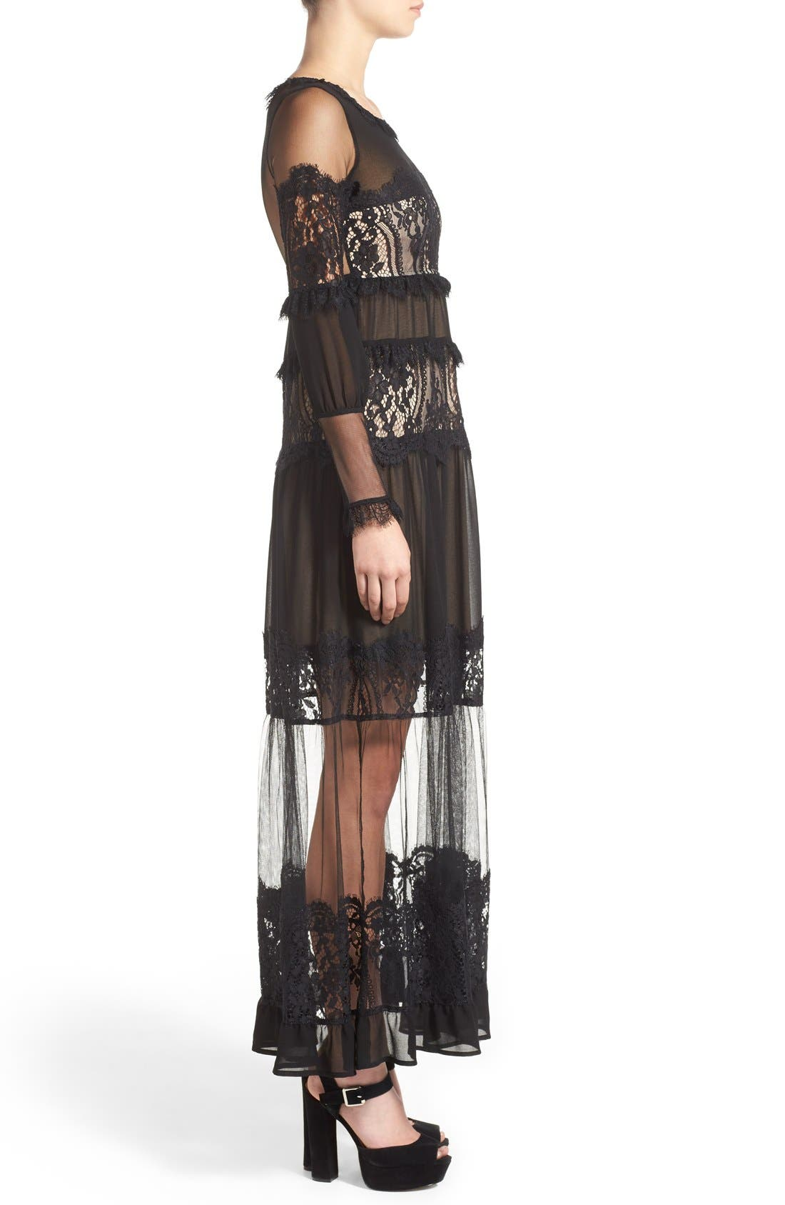 Alternate Image 3  - For Love & Lemons 'Alexa' Maxi Dress