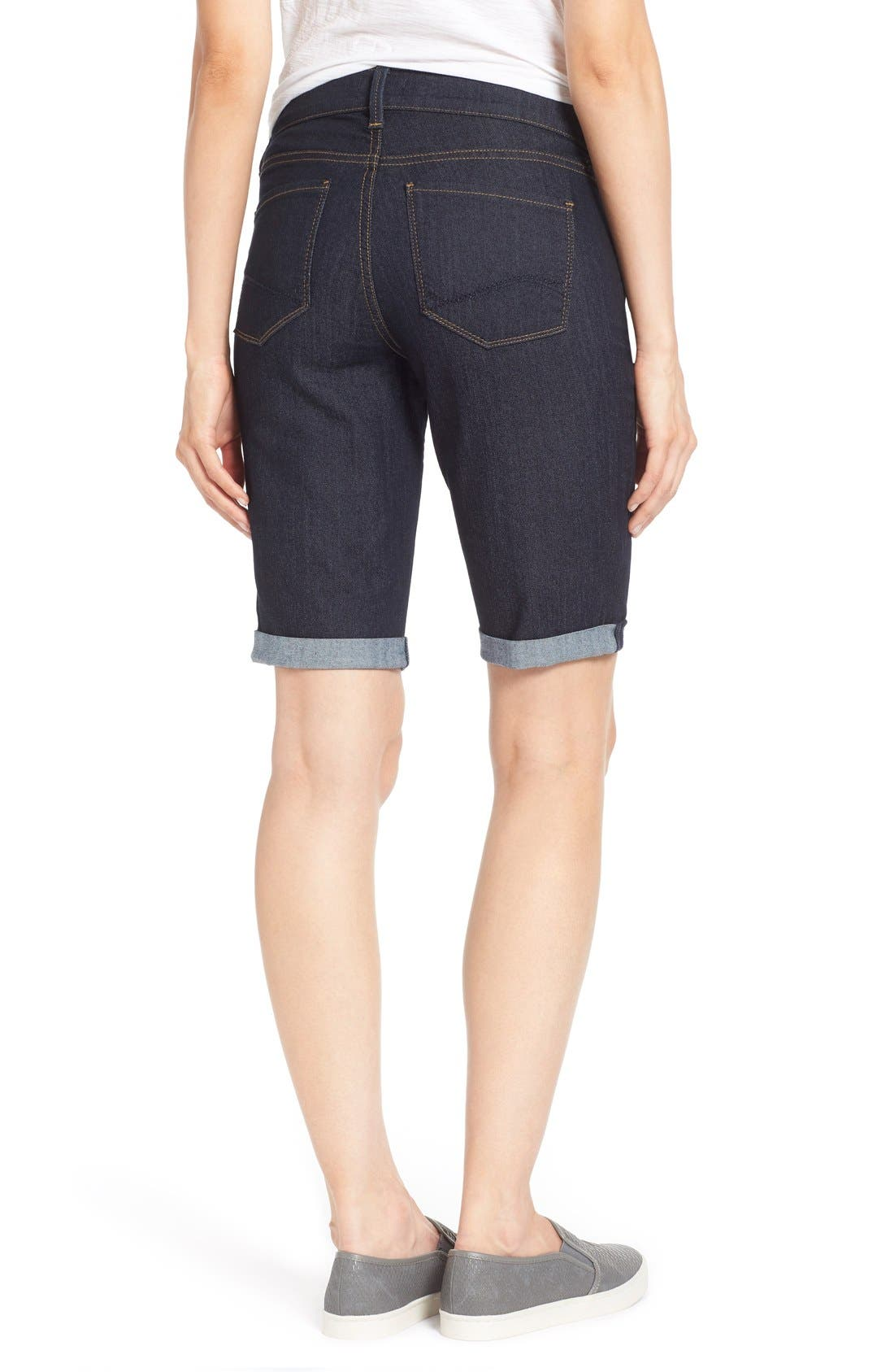 Alternate Image 2  - NYDJ 'Briella' Stretch Roll Cuff Denim Shorts (Regular & Petite)