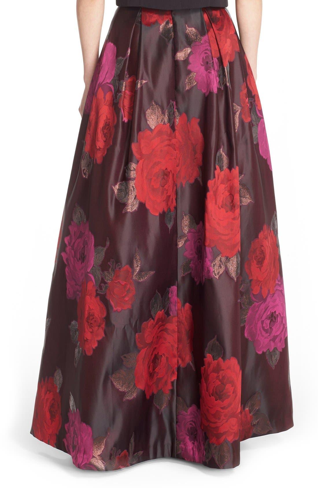 Alternate Image 2  - Eliza J Floral Jacquard Ball Skirt