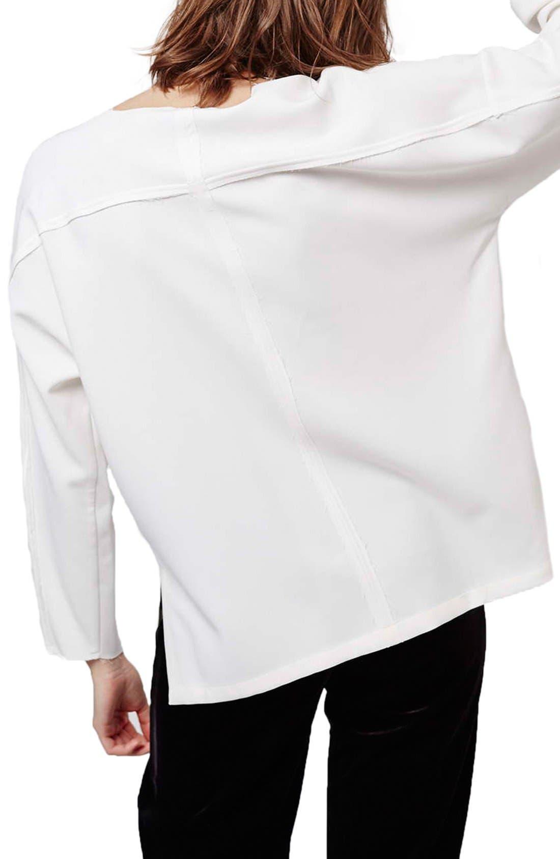 Alternate Image 3  - Topshop Oversize V-Neck Sweater