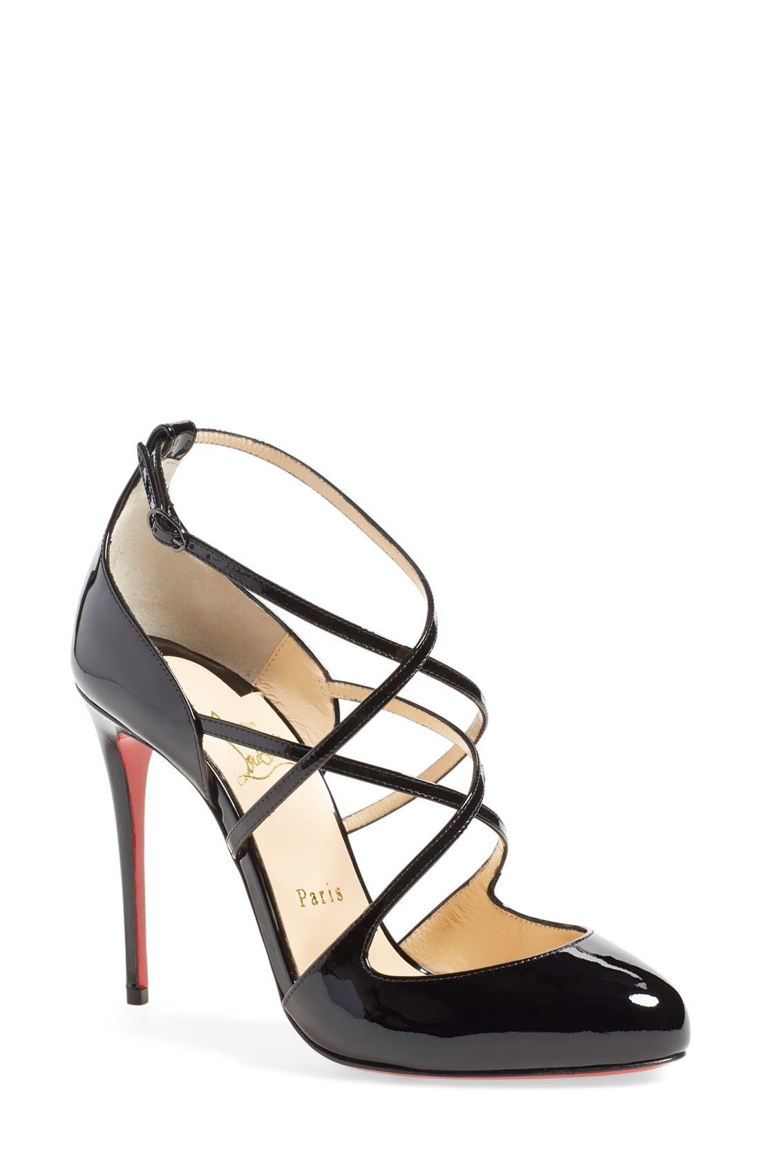 Alternate Image 1 Selected - Christian Louboutin 'Soustelissimo' Ankle Strap Pump