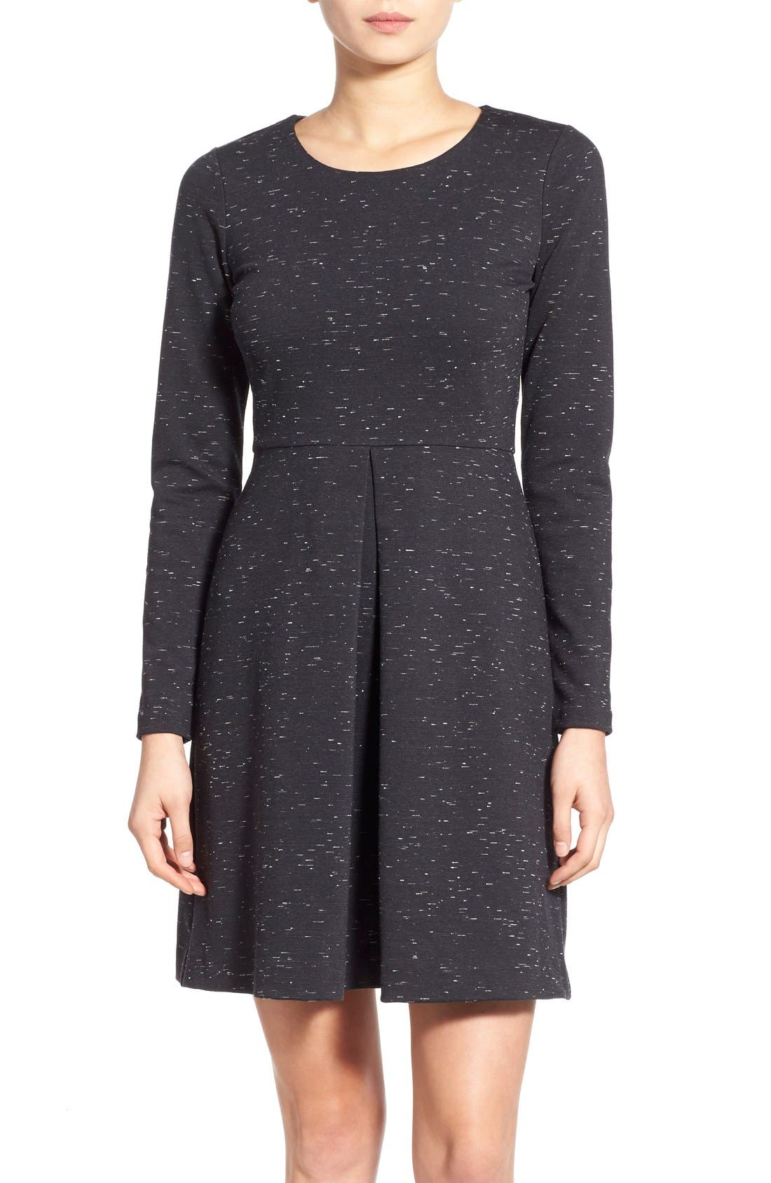 Alternate Image 1 Selected - Madewell 'Gia' Marled Fit & Flare Dress