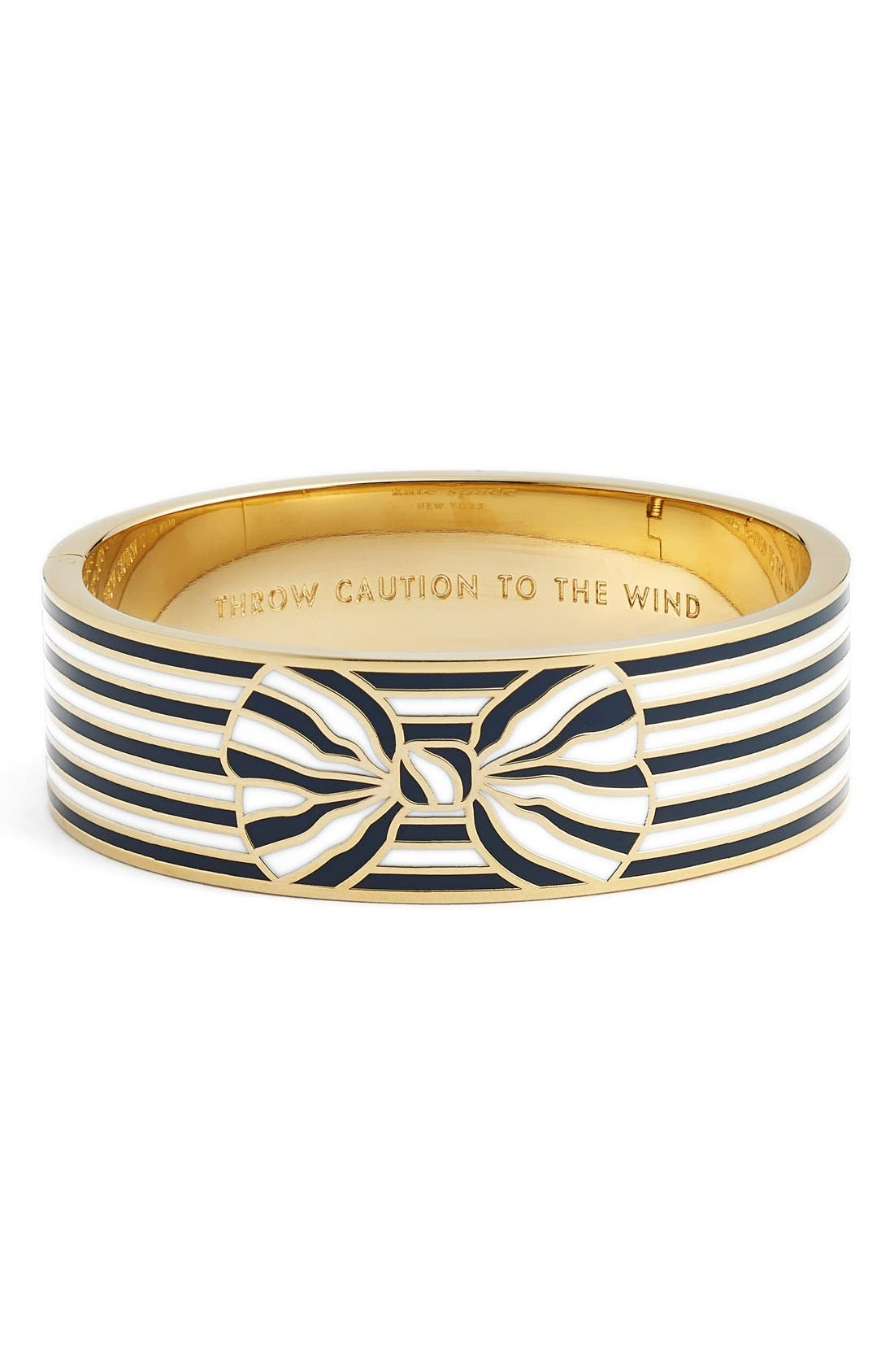 Main Image - kate spade new york 'out of the loop' bow bangle bracelet