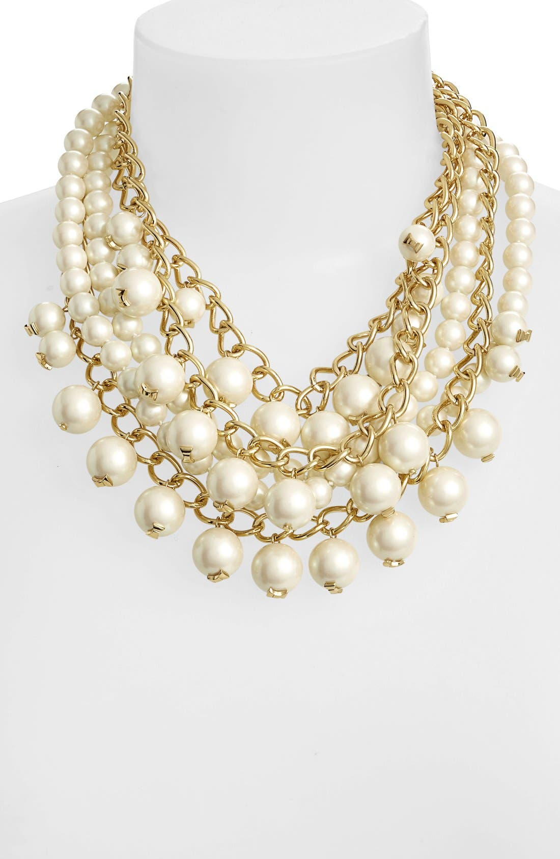 Main Image - kate spade new york 'purely pearl' faux pearl statement necklace