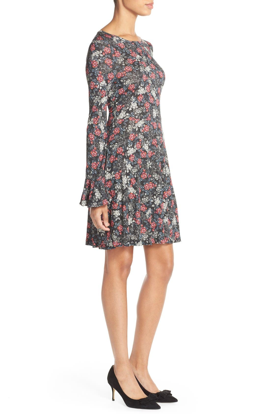Alternate Image 3  - French Connection Floral Print Jersey A-Line Dress