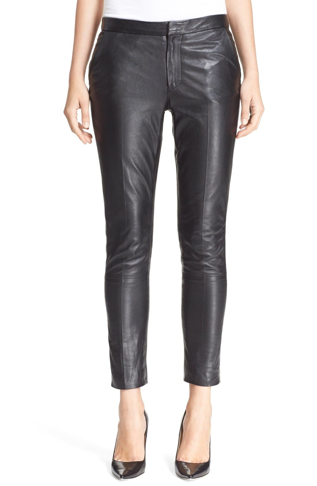 Alternate Image 1 Selected - RED Valentino Leather Trousers