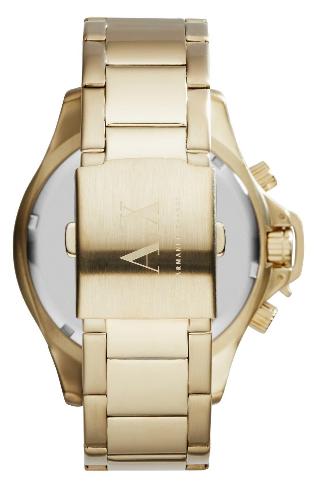 Alternate Image 2  - AX Armani Exchange Chronograph Bracelet Watch, 48mm