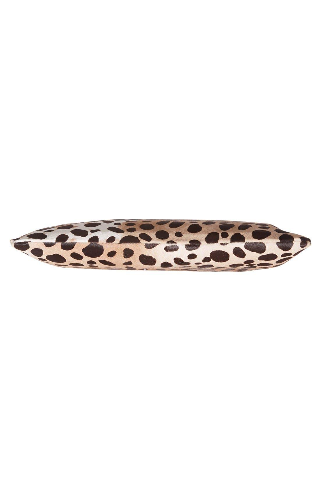 Alternate Image 6  - Clare V. Genuine Calf Hair Leopard Print Zip Clutch