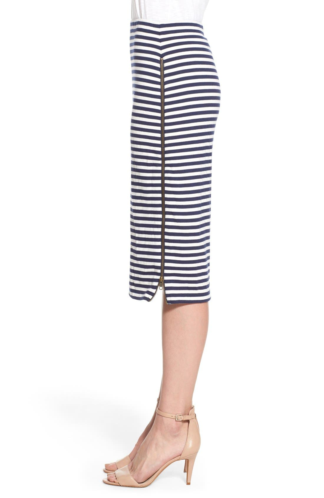 Alternate Image 4  - Caslon® Zip Detail Tube Skirt