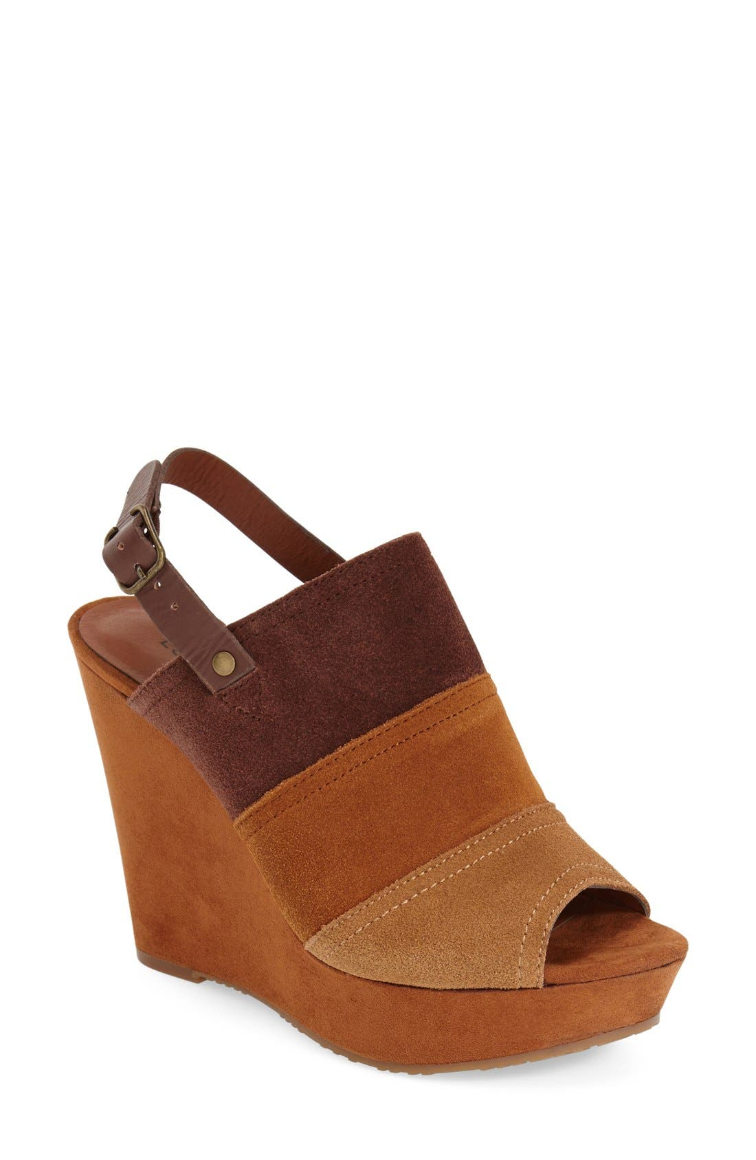 Alternate Image 1 Selected - Lucky Brand 'Frescala' Wedge Sandal (Women)