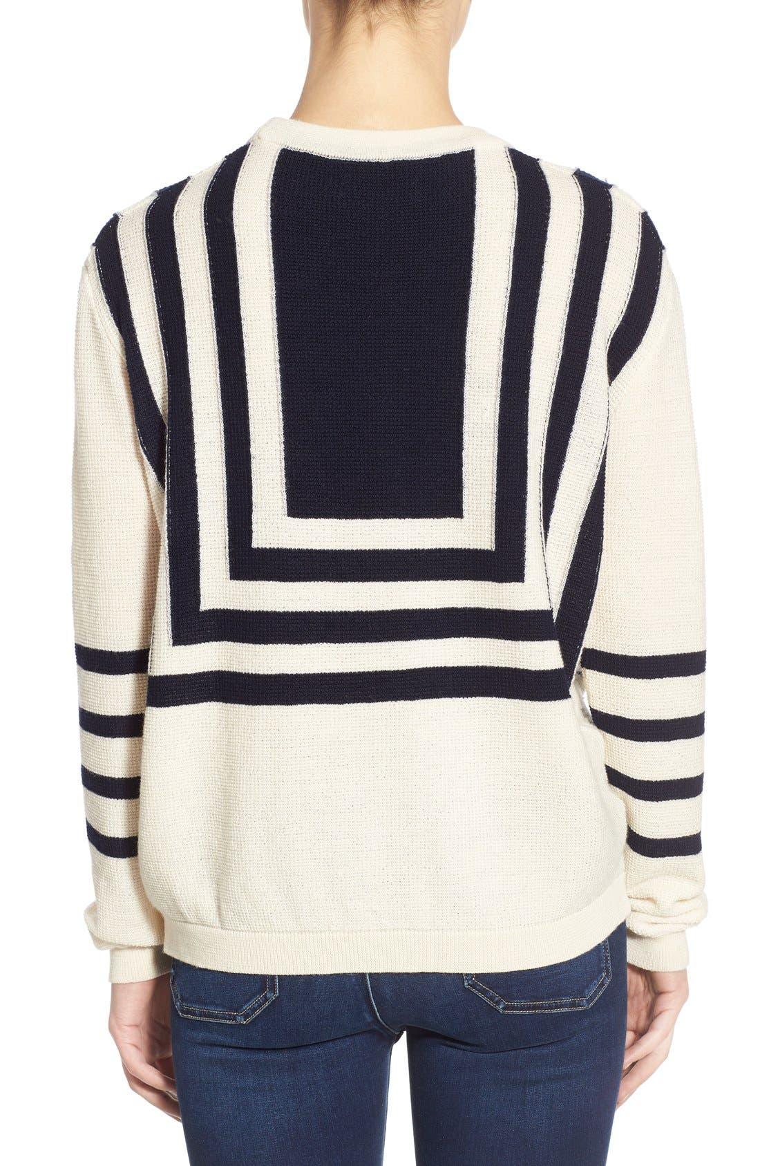 Alternate Image 2  - M.i.h. Jeans 'Bib Breton' Crewneck Sweater