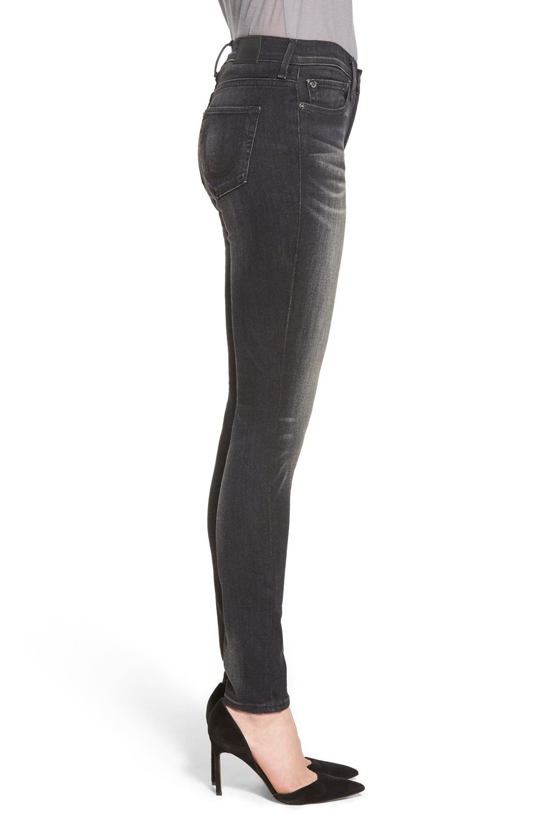 Alternate Image 3  - True Religion Brand Jeans 'Halle' Skinny Jeans (Authentic Black)
