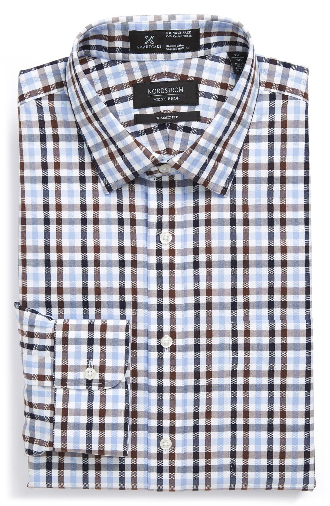 NORDSTROM MEN'S SHOP Smartcare™ Classic Fit Check Dress