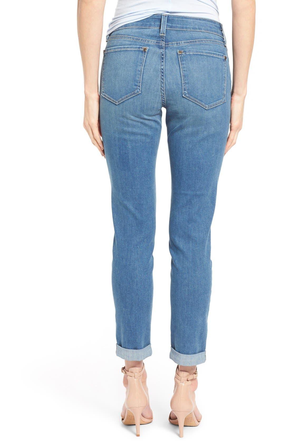 Alternate Image 2  - NYDJ 'Anabelle' Stretch Skinny Boyfriend Jeans (Upper Falls) (Regular & Petite)