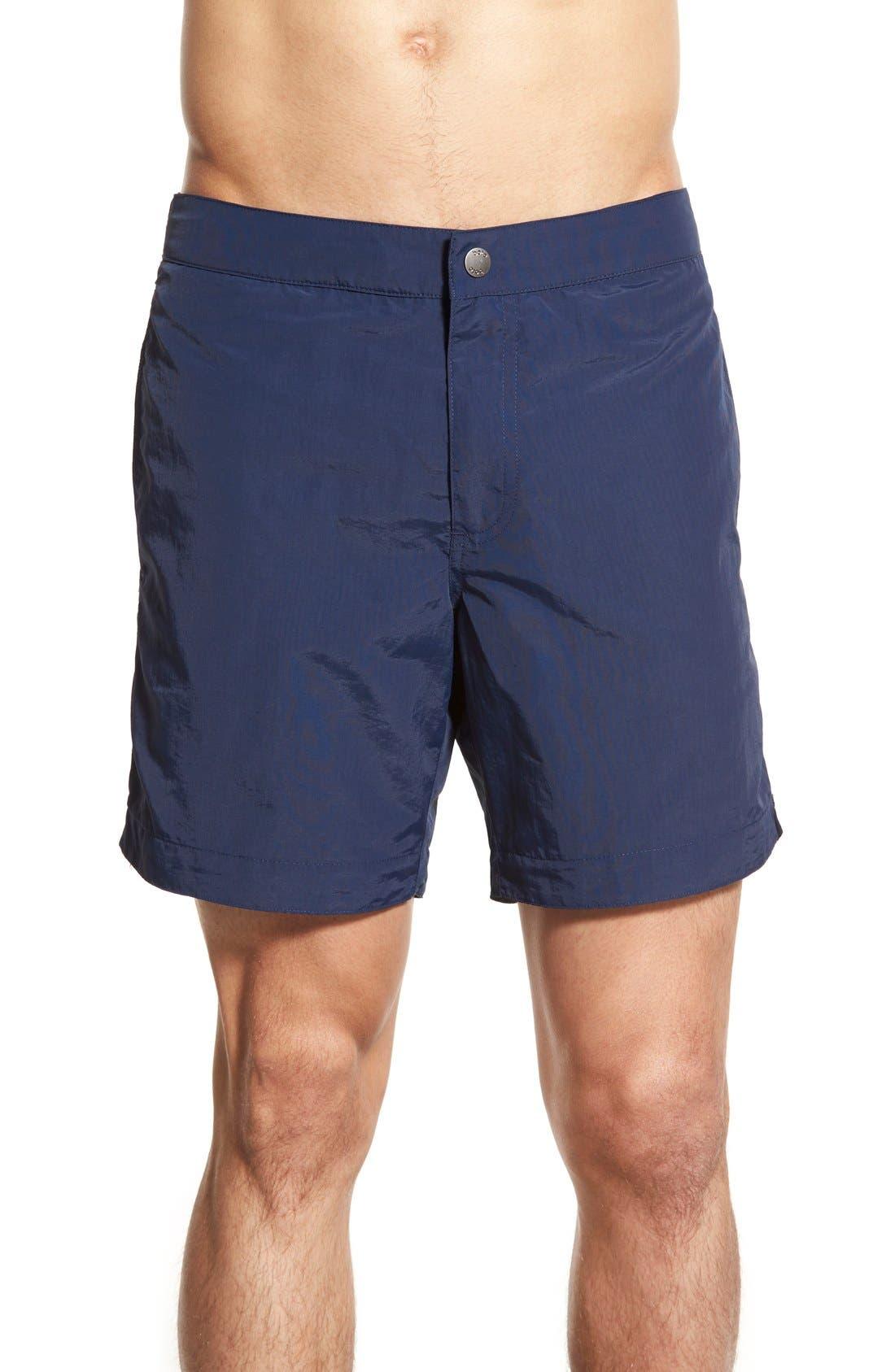 boto 'Aruba' Tailored Fit 6.5 Inch Swim Trunks