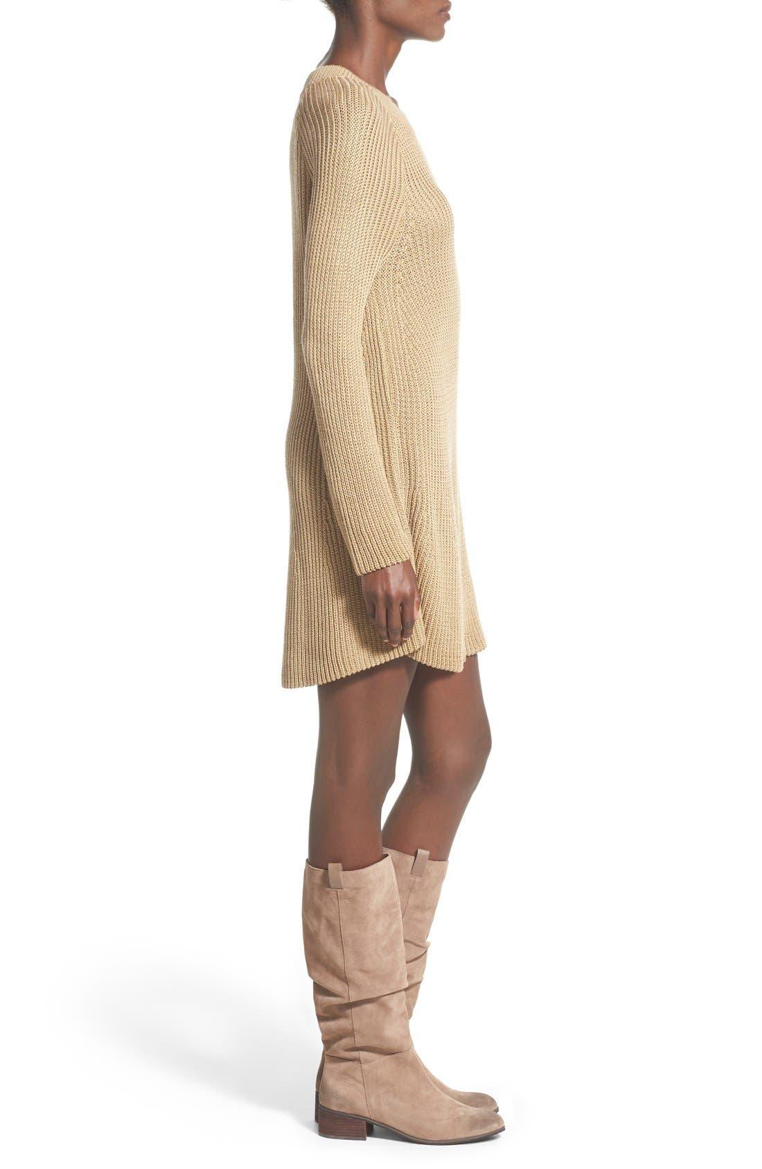 Alternate Image 3  - Cotton Emporium Crewneck Sweater Dress