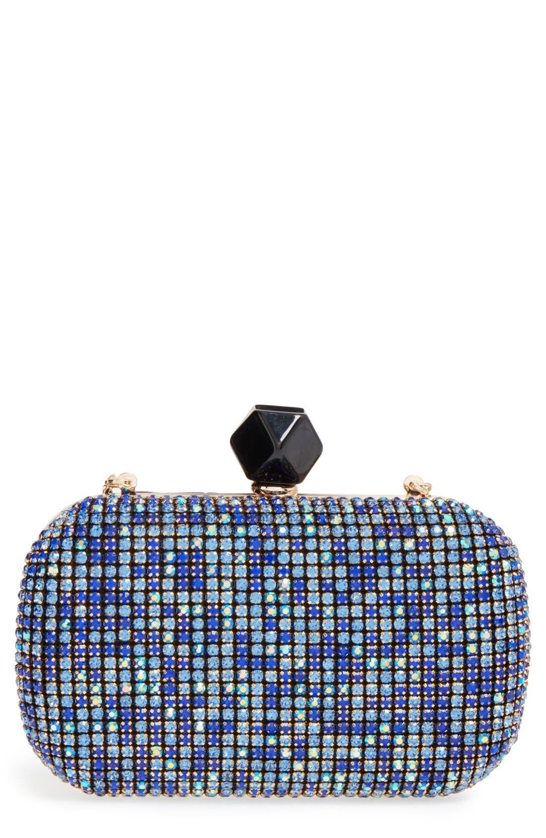 Main Image - Natasha Couture Crystal Box Clutch