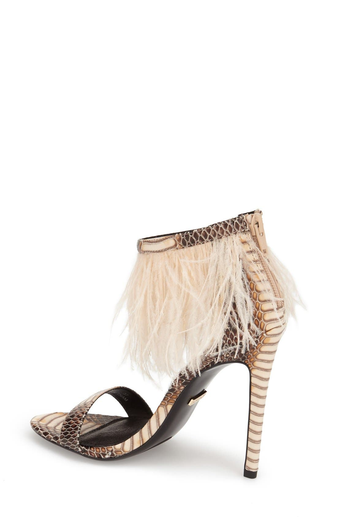Alternate Image 2  - Topshop 'Ravenous' Feather Sandal (Women)