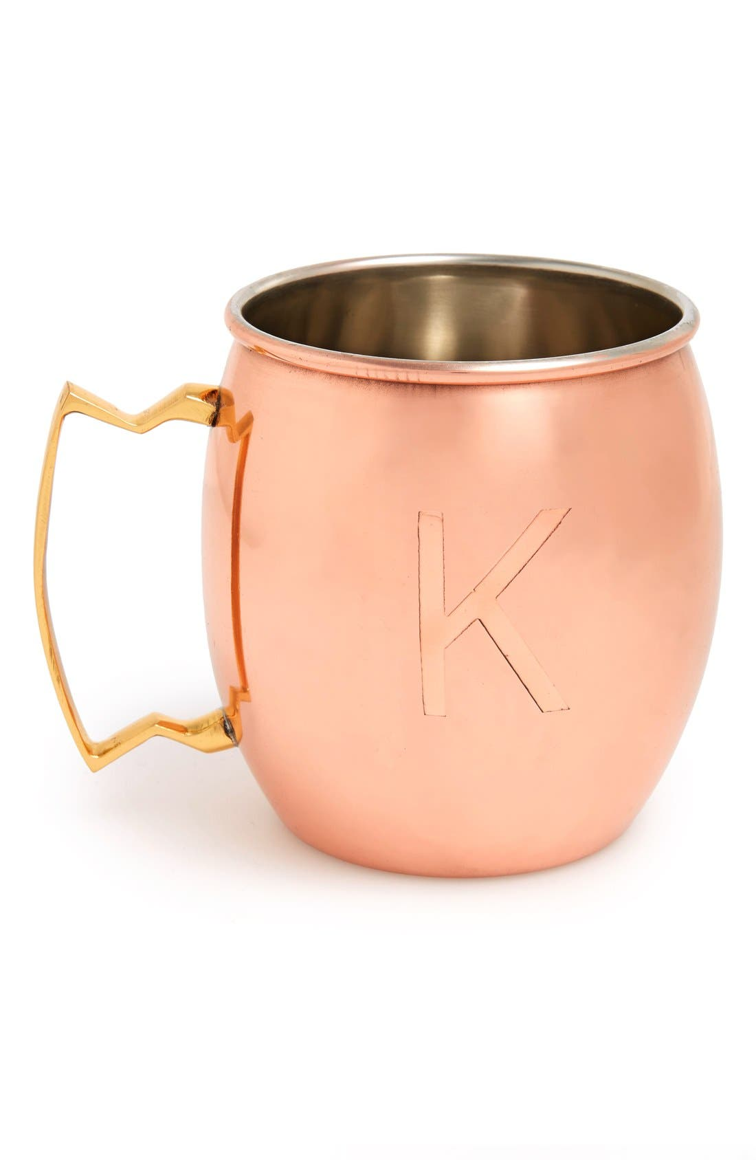 Alternate Image 1 Selected - MG Décor Customized Copper Moscow Mule Mug