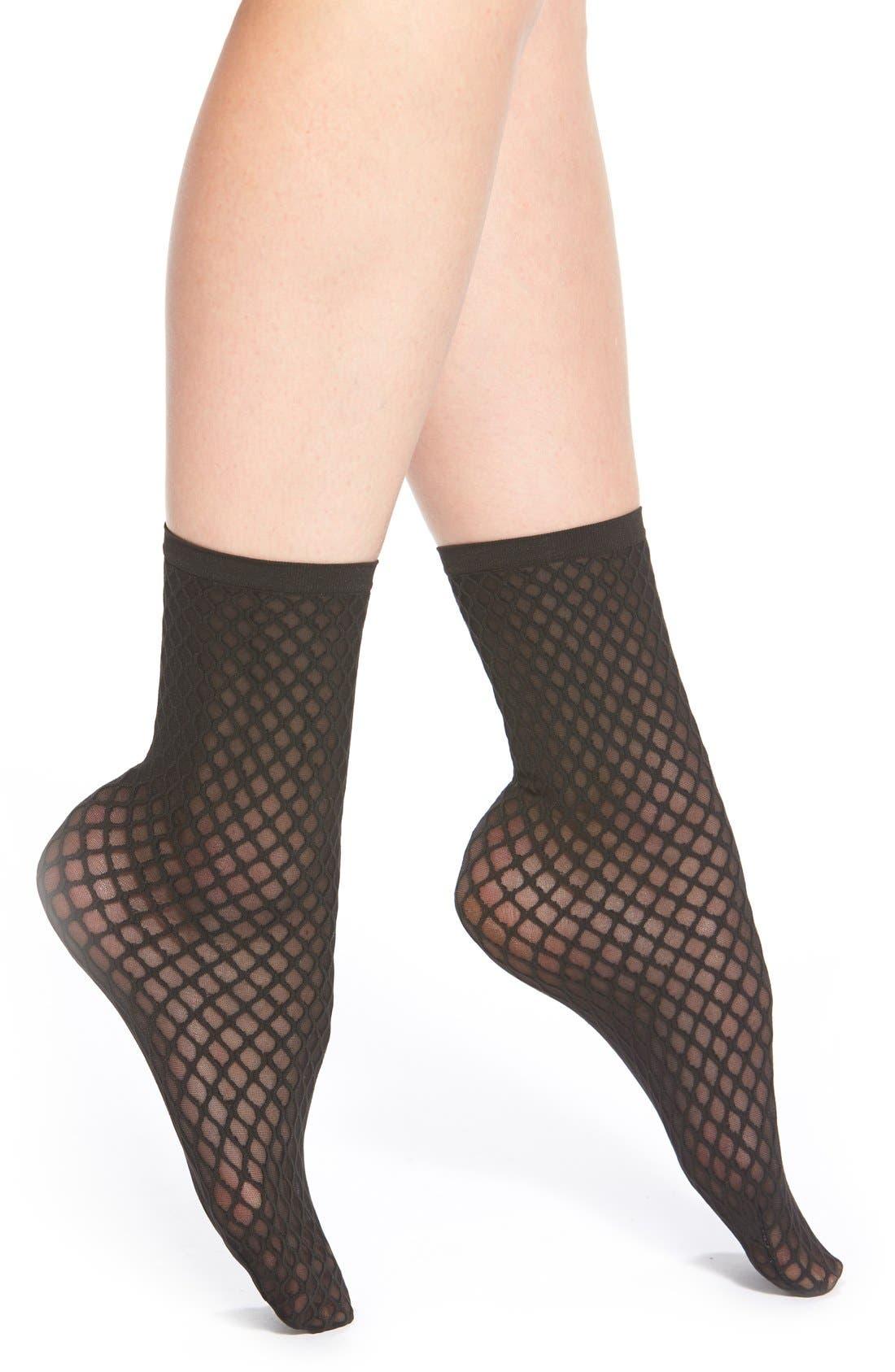 Alternate Image 1 Selected - Wolford 'Sibylle' Semi-Sheer Trouser Socks