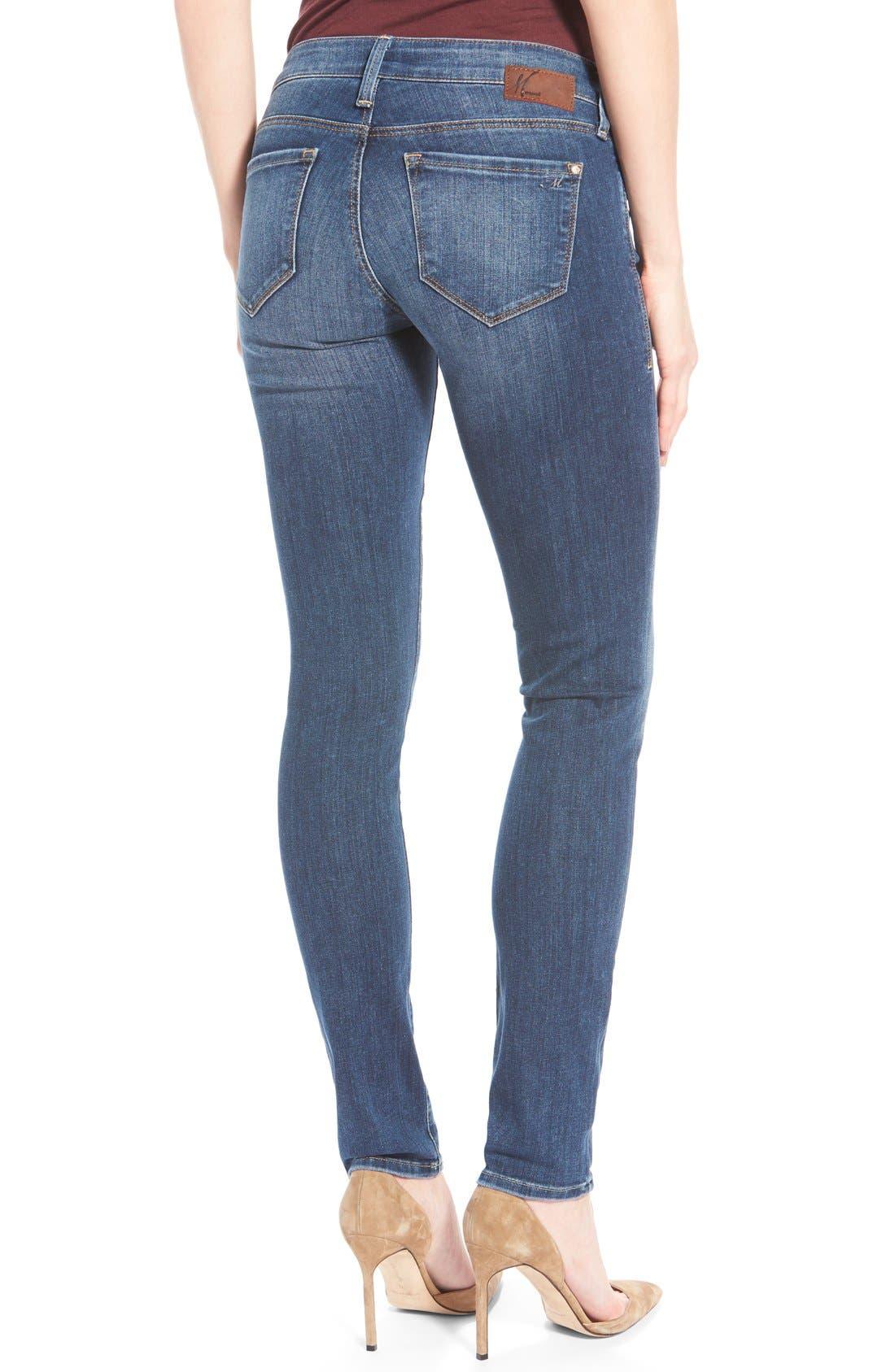 Alternate Image 2  - Mavi Jeans 'Serena' Stretch Low Rise Skinny Jeans (Indigo Nolita)