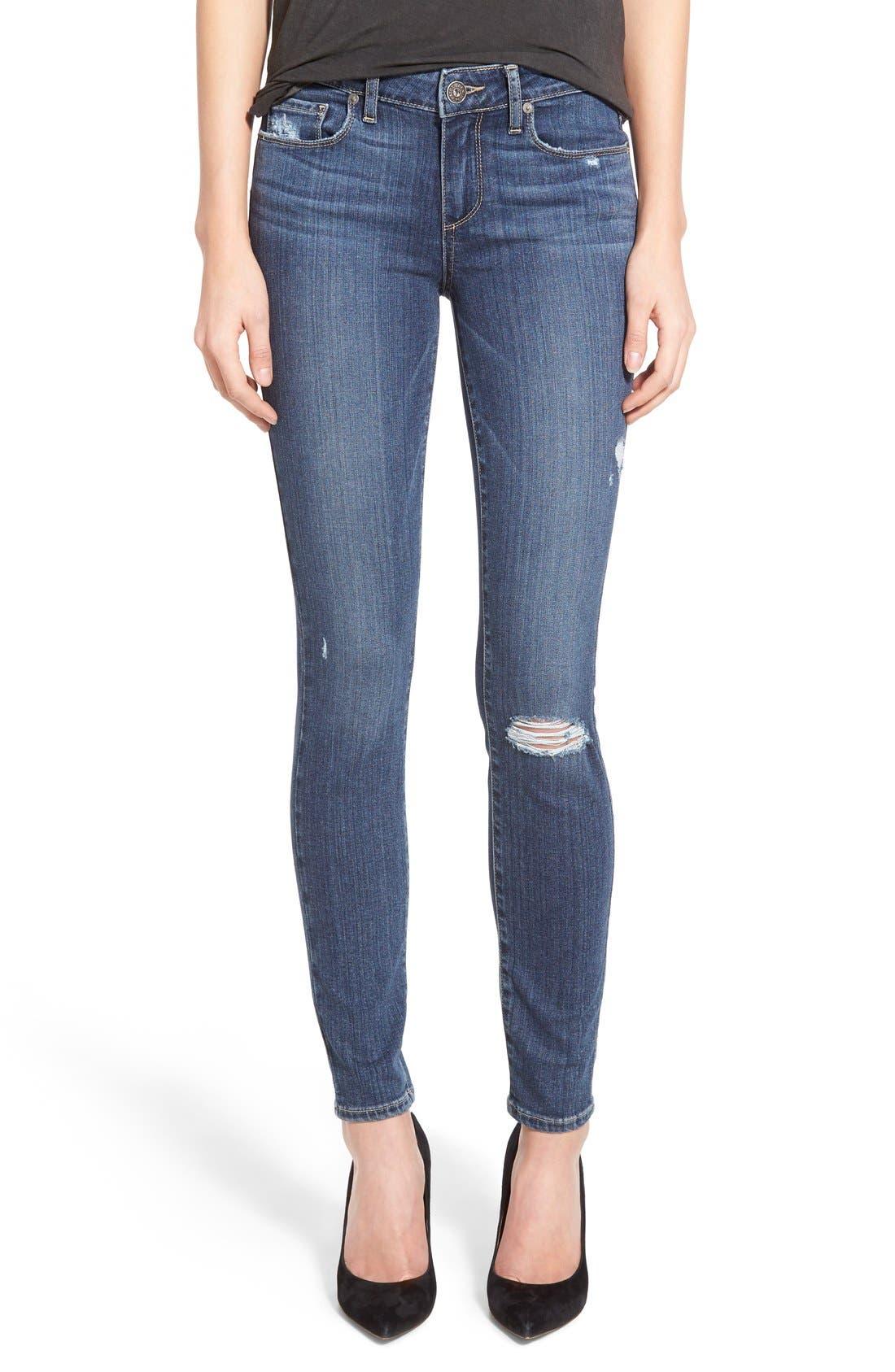Main Image - Paige Denim 'Transcend - Verdugo' Ultra Skinny Jeans (Silas Destructed)