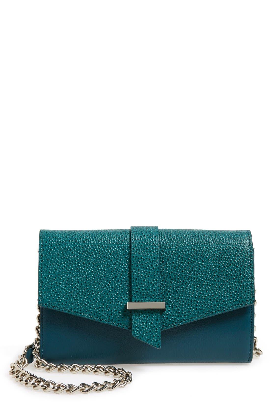 Alternate Image 1 Selected - Halogen® 'Belltown' Leather Crossbody Bag