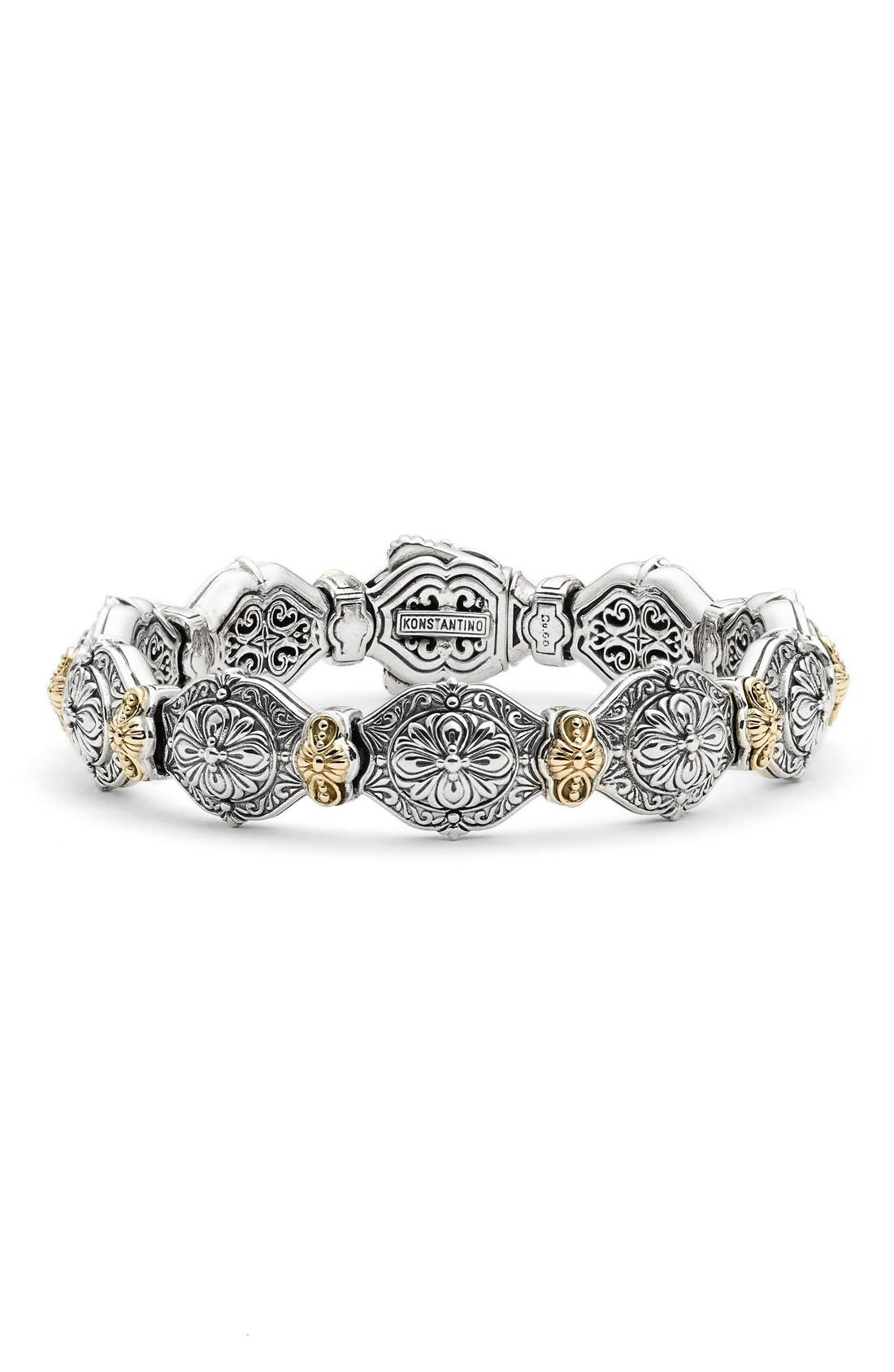 KONSTANTINO 'Silver & Gold Classics' Link Bracelet