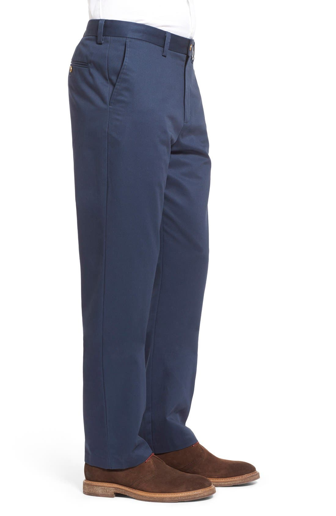 Alternate Image 3  - Nordstrom Men's Shop Wrinkle Free Straight Leg Chinos