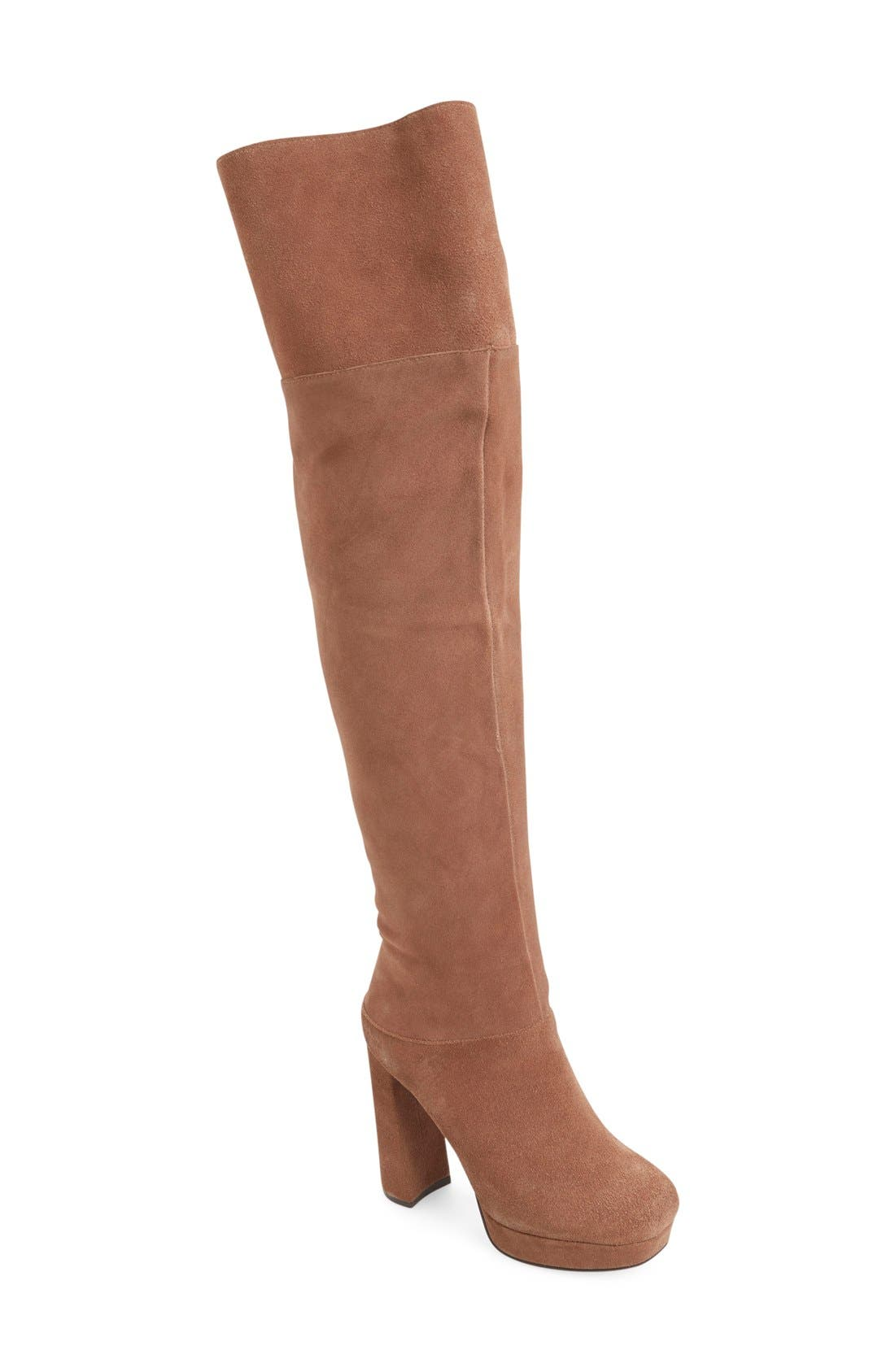 Alternate Image 1 Selected - Jeffrey Campbell 'Destino' Over the Knee Platform Boot (Women)