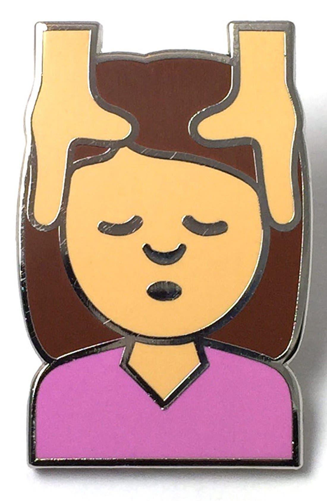 Alternate Image 1 Selected - PINTRILL 'Girl Massage' Fashion Accessory Pin