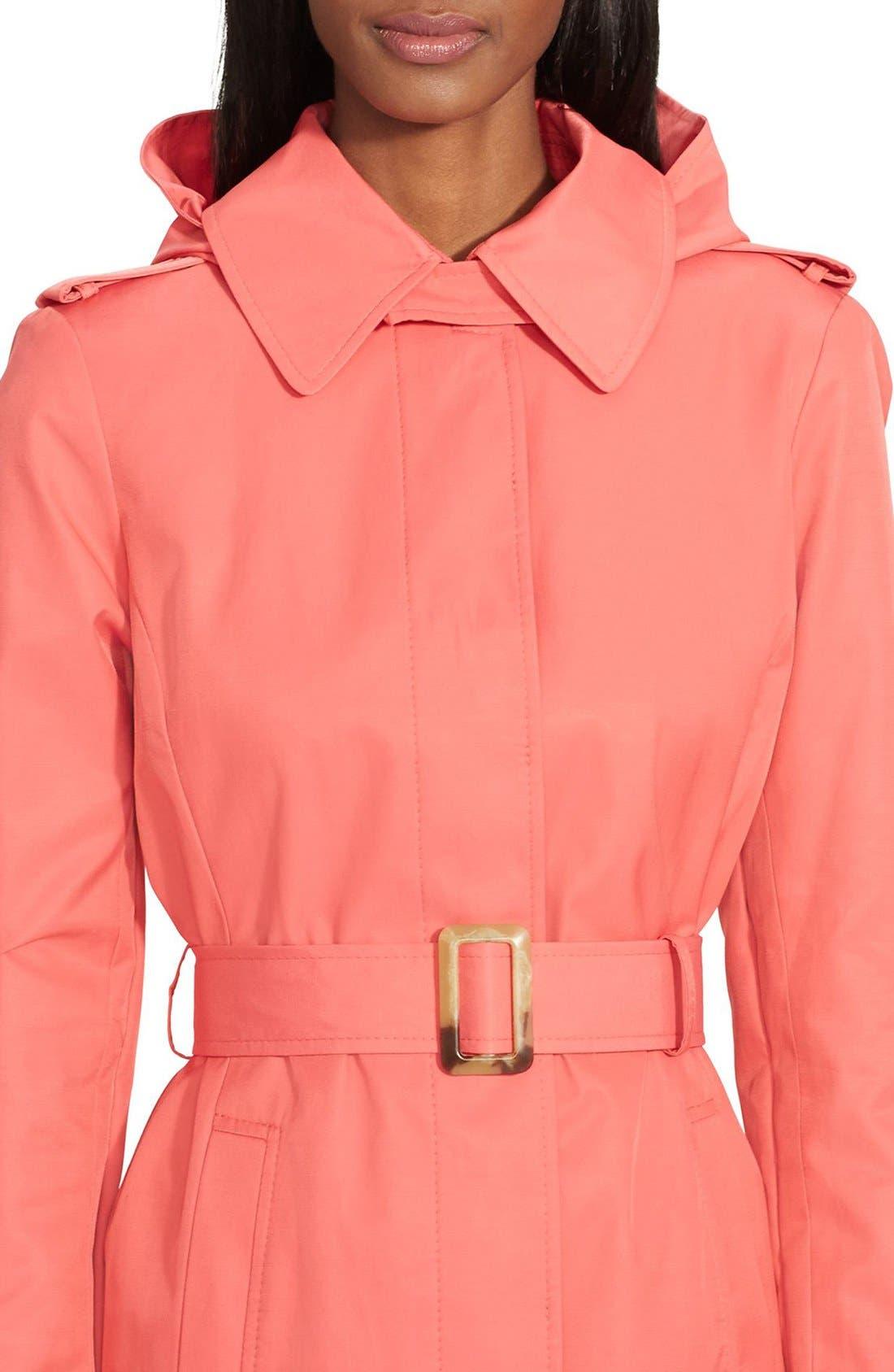 Alternate Image 3  - Lauren Ralph Lauren Belted Hooded Raincoat