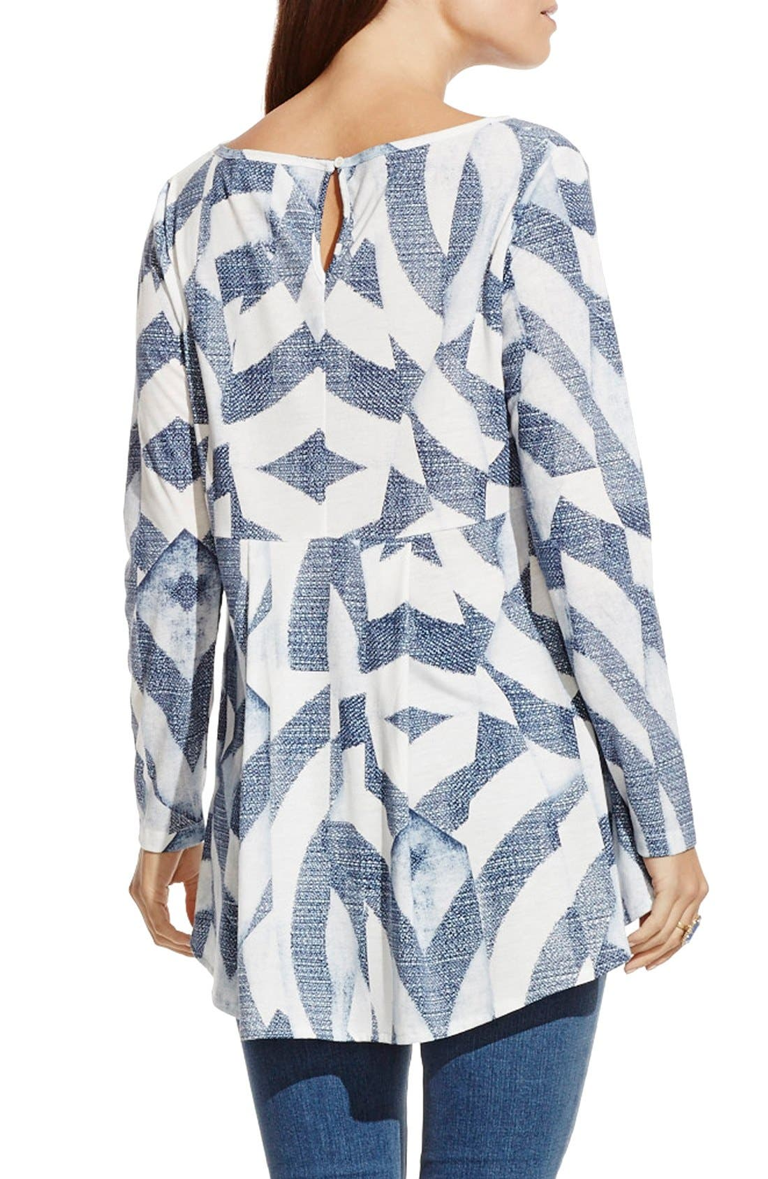 Alternate Image 3  - Two by Vince Camuto 'Broken Maze' Print High/Low V-Neck Tunic
