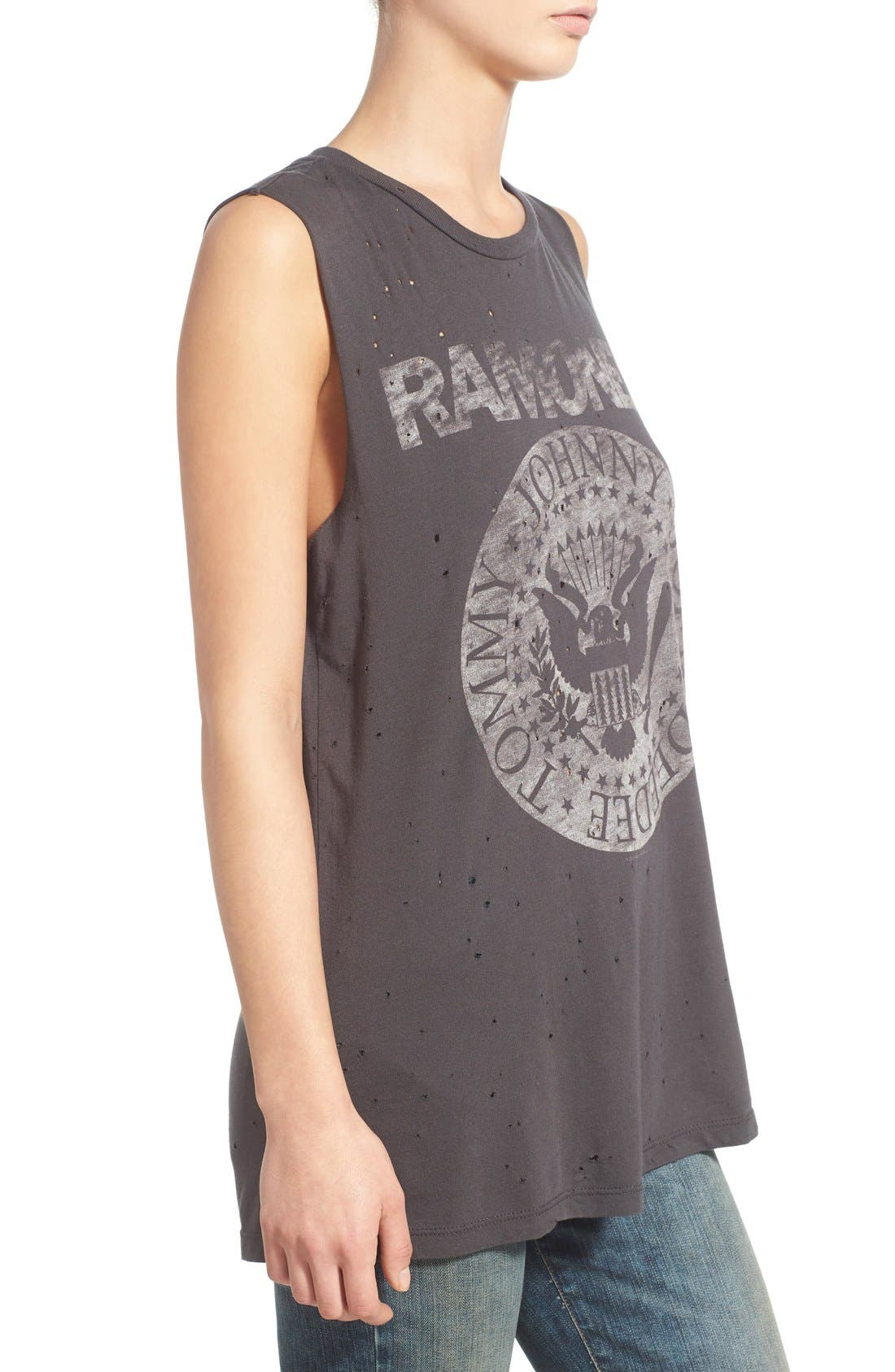 Alternate Image 3  - Daydreamer 'The Ramones' Oversize Graphic Muscle Tee